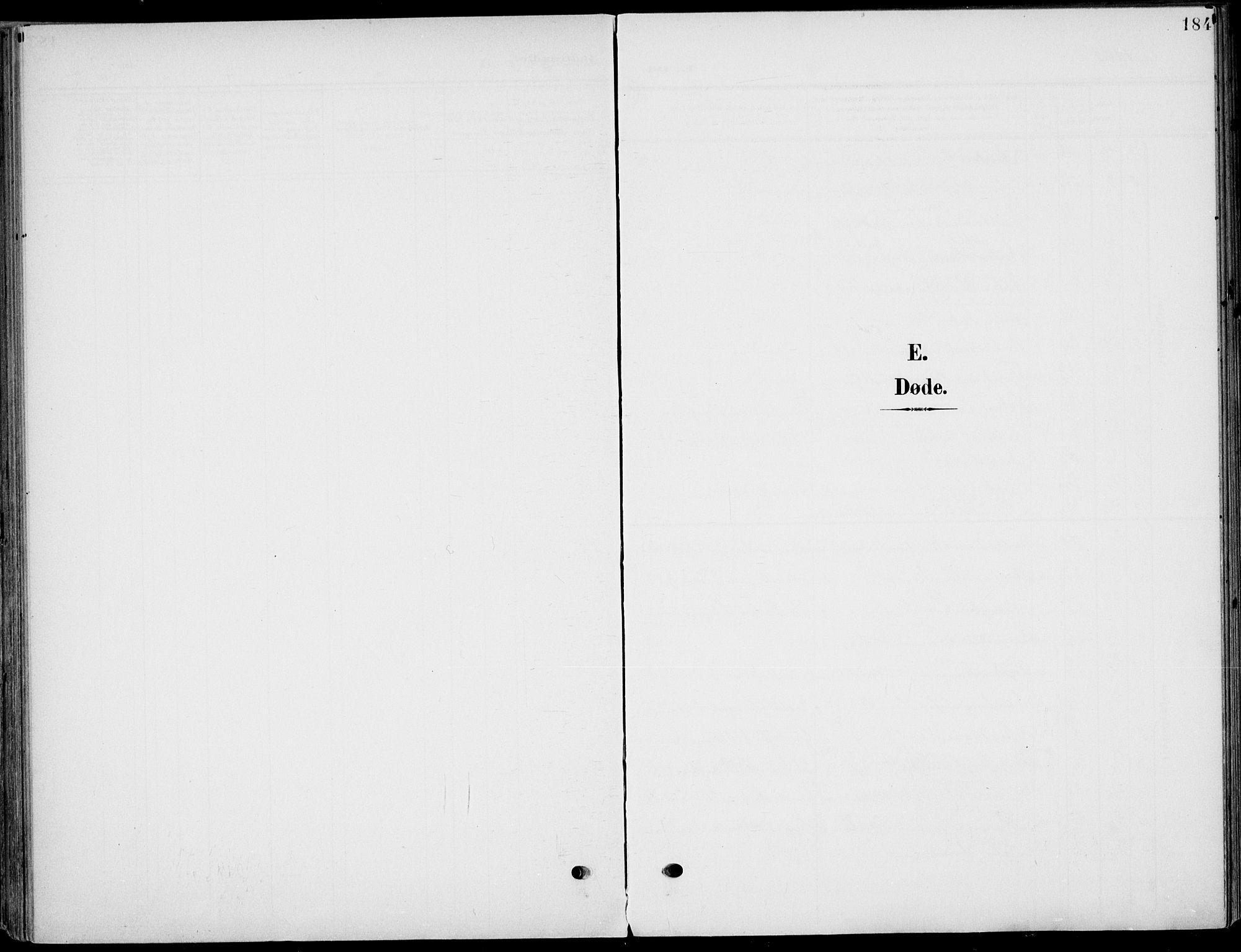 SAKO, Eidanger kirkebøker, F/Fa/L0013: Ministerialbok nr. 13, 1900-1913, s. 184