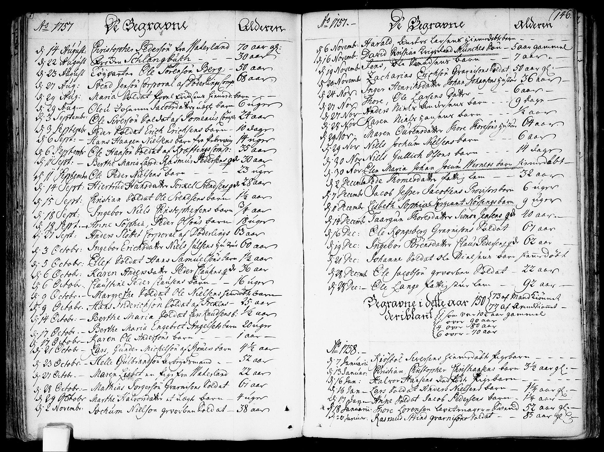SAO, Garnisonsmenigheten Kirkebøker, F/Fa/L0002: Ministerialbok nr. 2, 1757-1776, s. 146