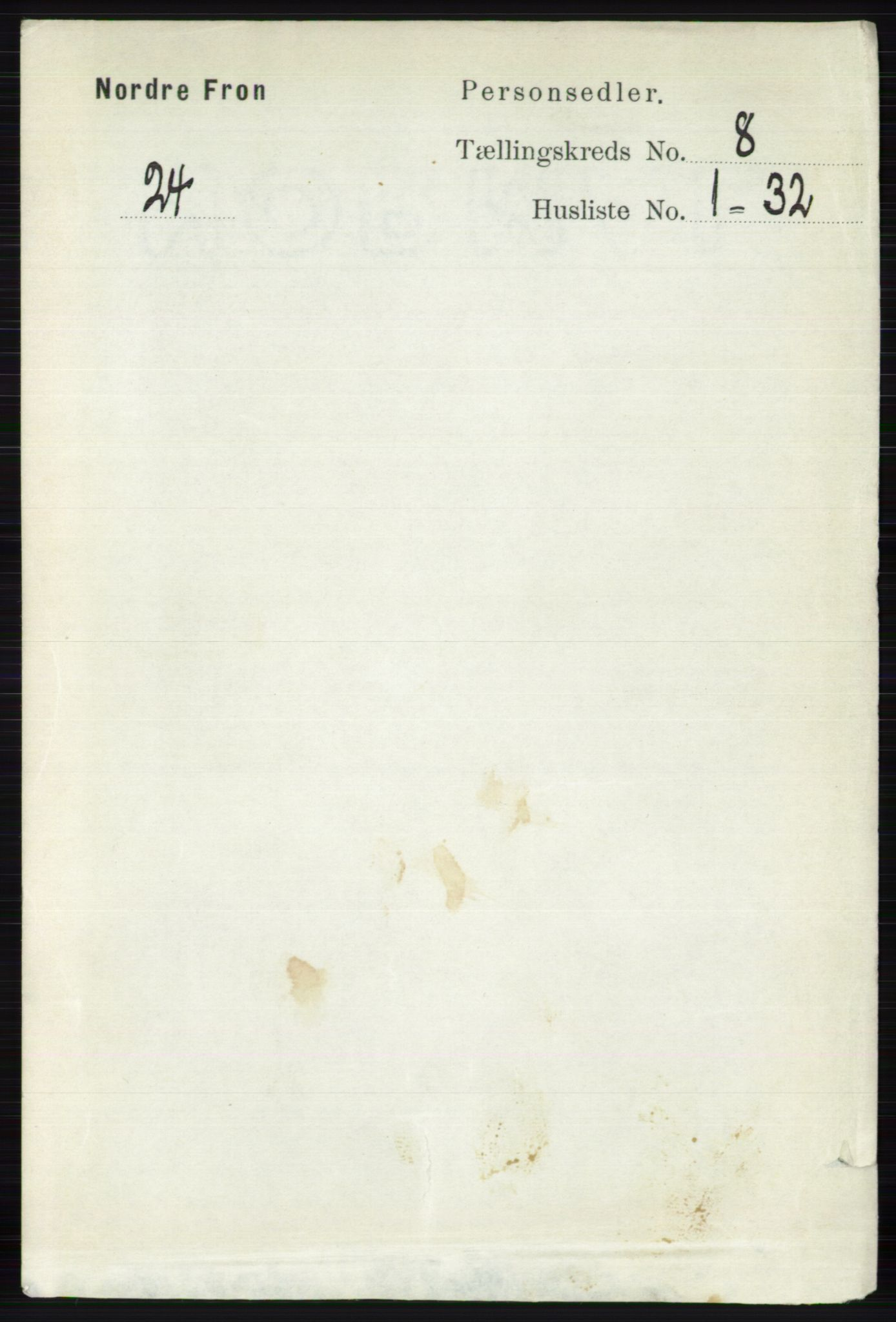 RA, Folketelling 1891 for 0518 Nord-Fron herred, 1891, s. 3420