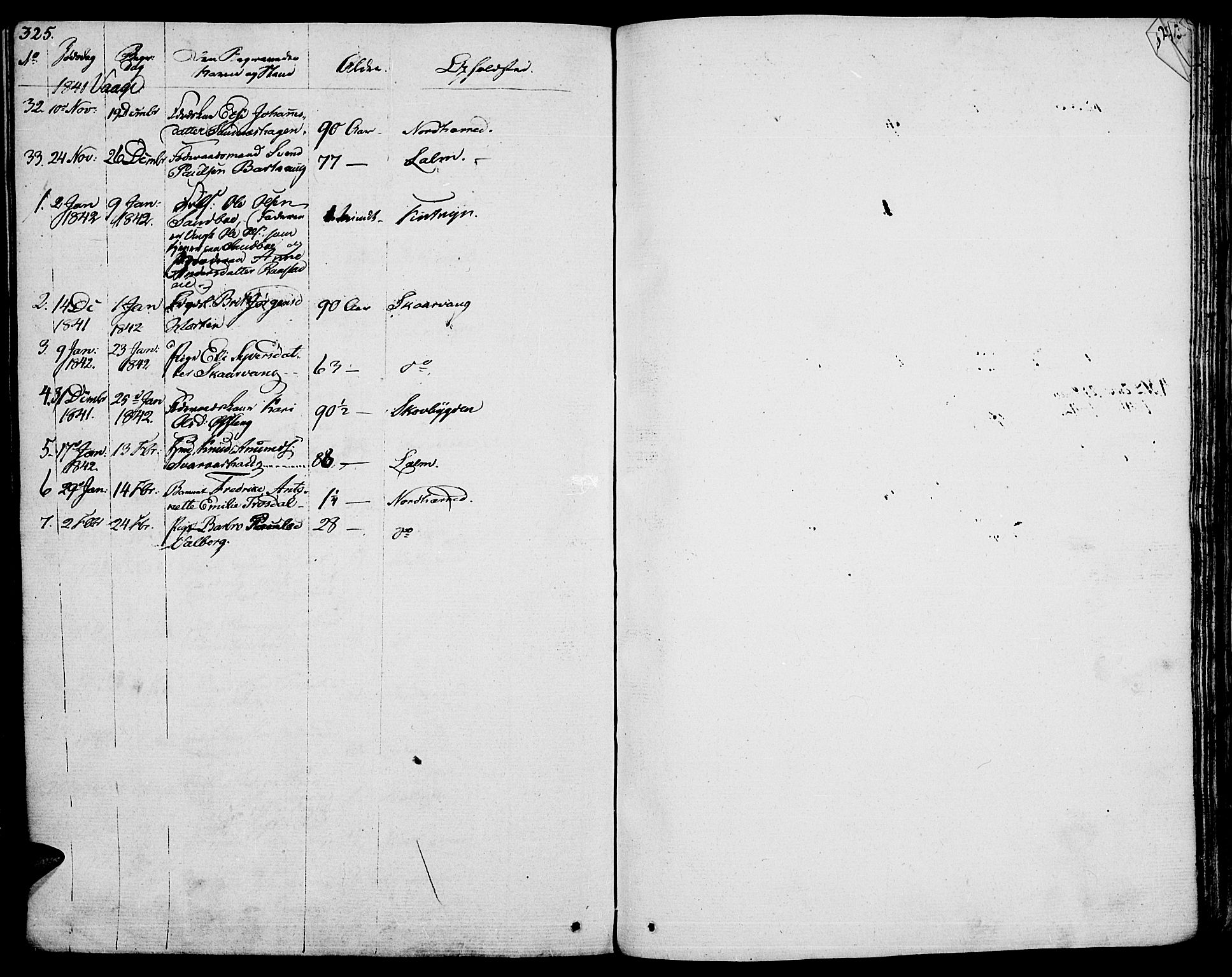 SAH, Vågå prestekontor, Ministerialbok nr. 4 /1, 1827-1842, s. 325