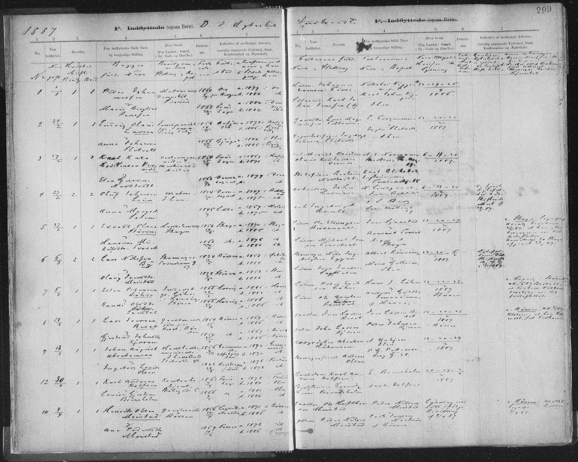 SAT, Ministerialprotokoller, klokkerbøker og fødselsregistre - Sør-Trøndelag, 603/L0163: Ministerialbok nr. 603A02, 1879-1895, s. 299