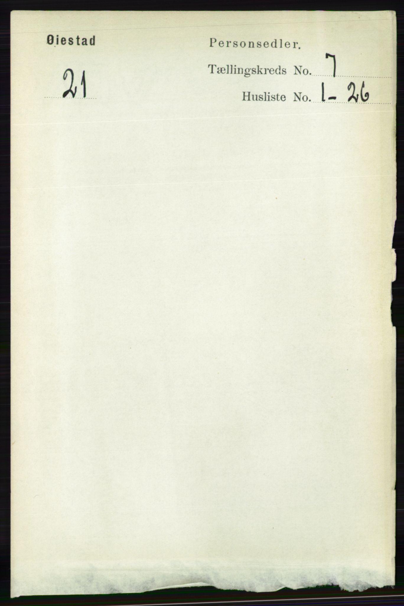 RA, Folketelling 1891 for 0920 Øyestad herred, 1891, s. 2654