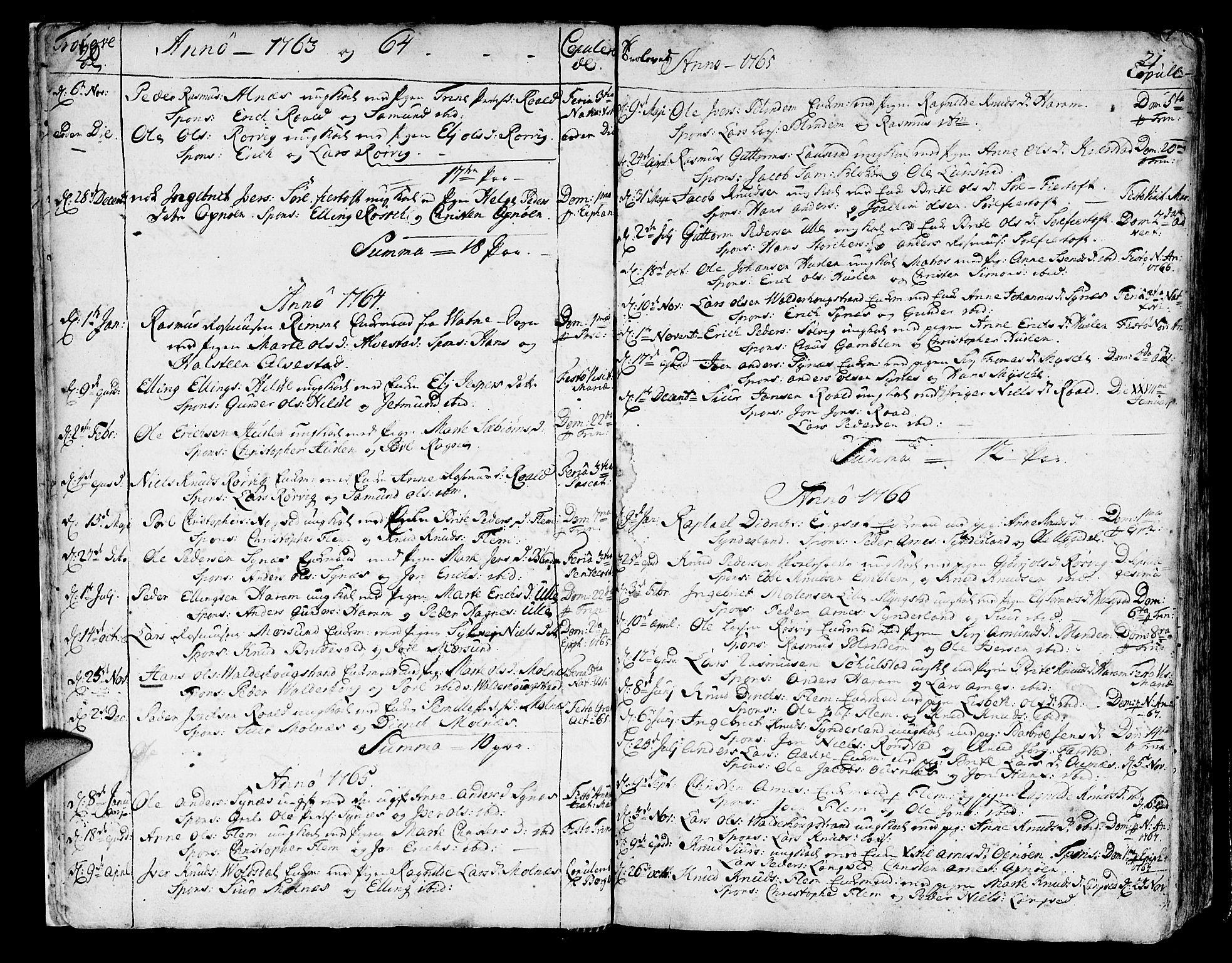 SAT, Ministerialprotokoller, klokkerbøker og fødselsregistre - Møre og Romsdal, 536/L0493: Ministerialbok nr. 536A02, 1739-1802, s. 20-21