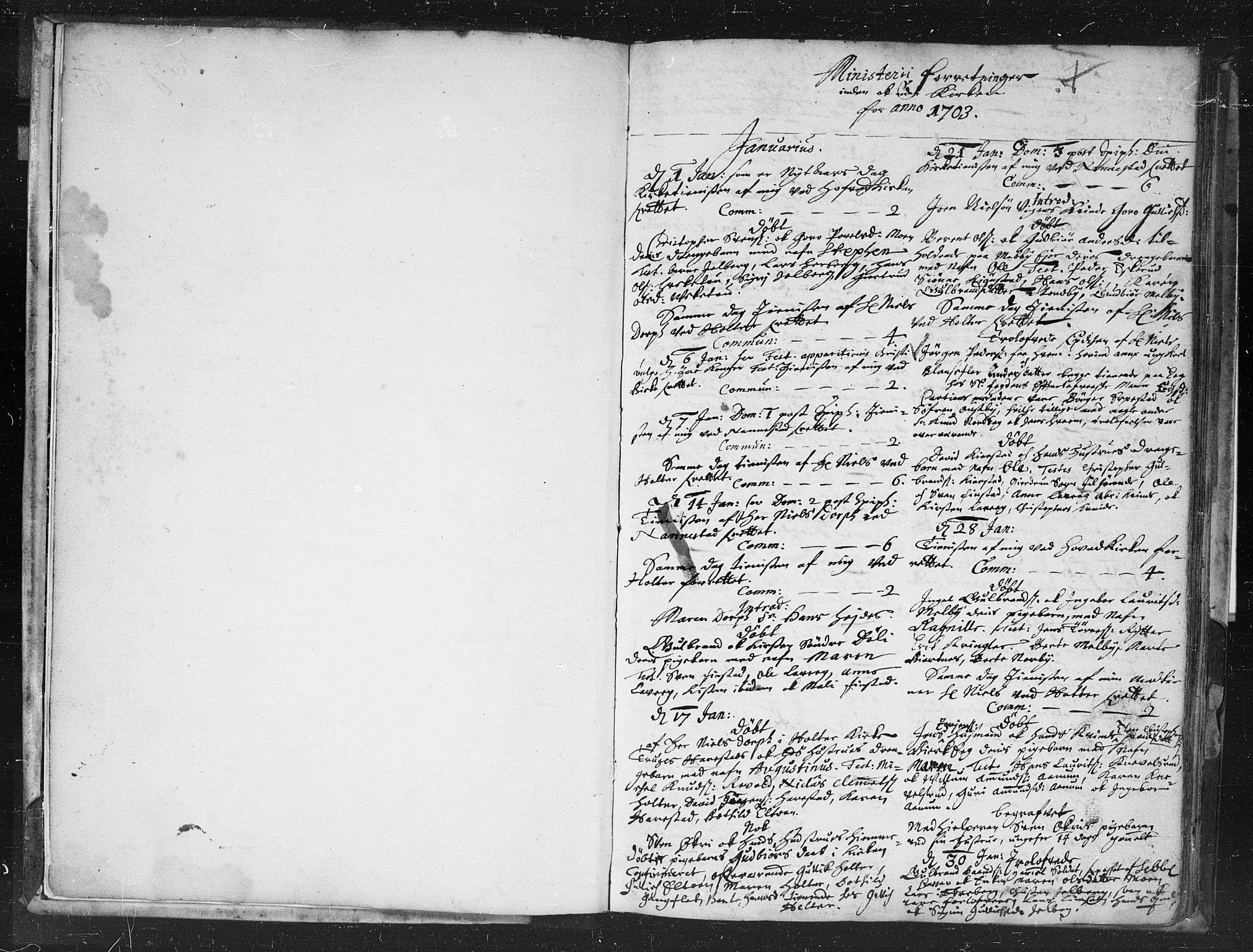 SAO, Nannestad prestekontor Kirkebøker, F/Fa/L0002: Ministerialbok nr. I 2, 1703-1715