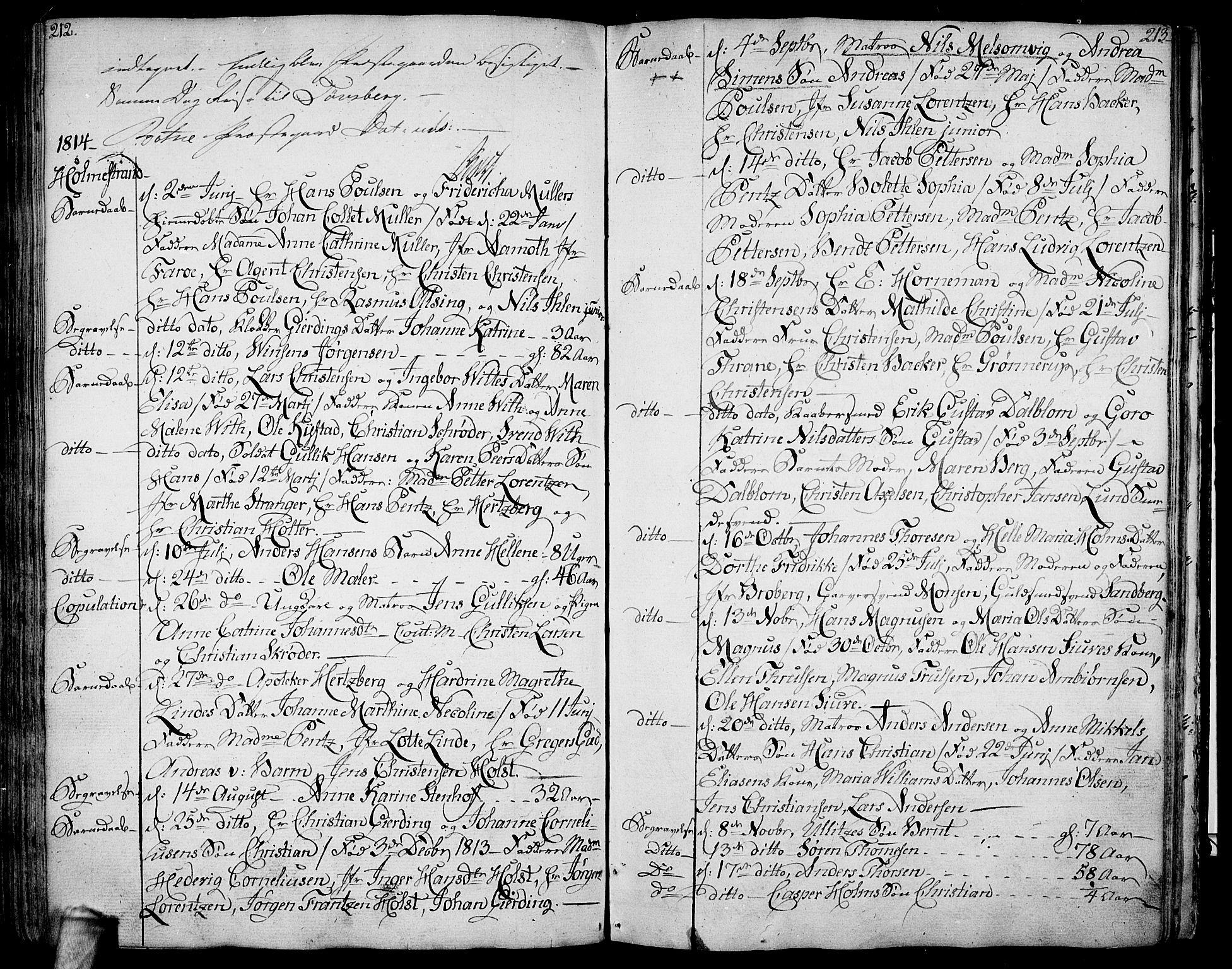 SAKO, Botne kirkebøker, F/Fa/L0003: Ministerialbok nr. I 3 /1, 1792-1844, s. 212-213