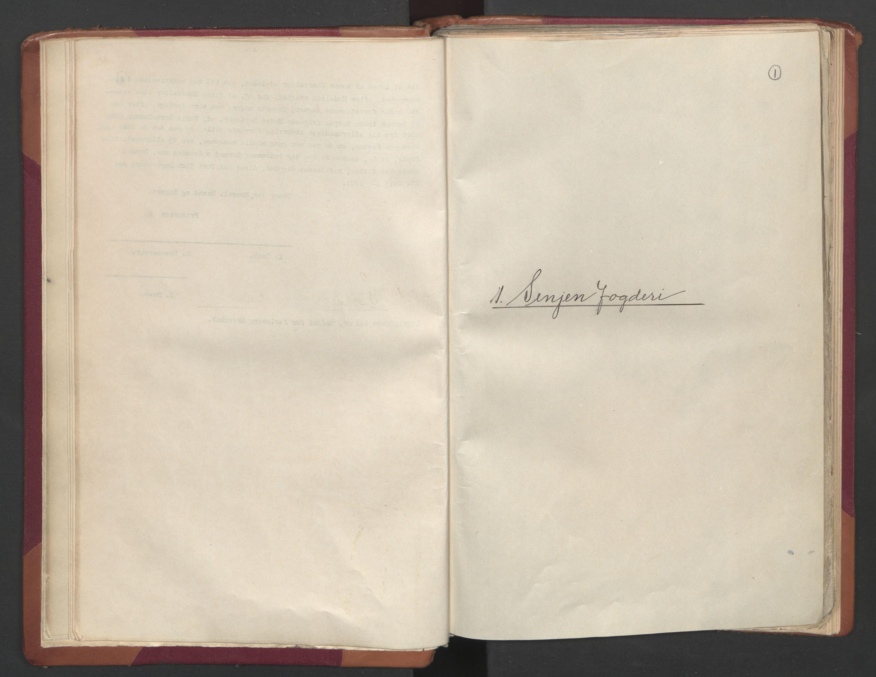 RA, Manntallet 1701, nr. 19: Senja og Tromsø fogderi, 1701, s. 1
