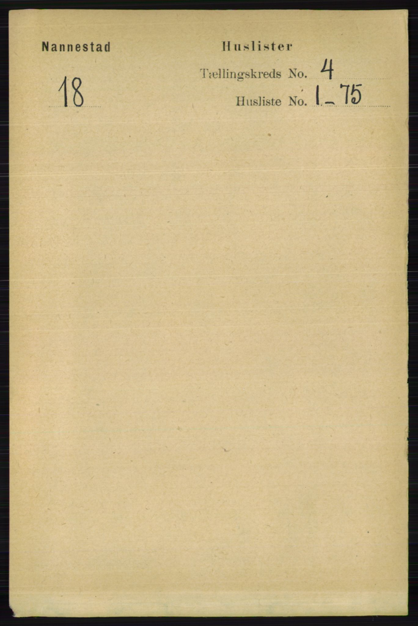 RA, Folketelling 1891 for 0238 Nannestad herred, 1891, s. 1977
