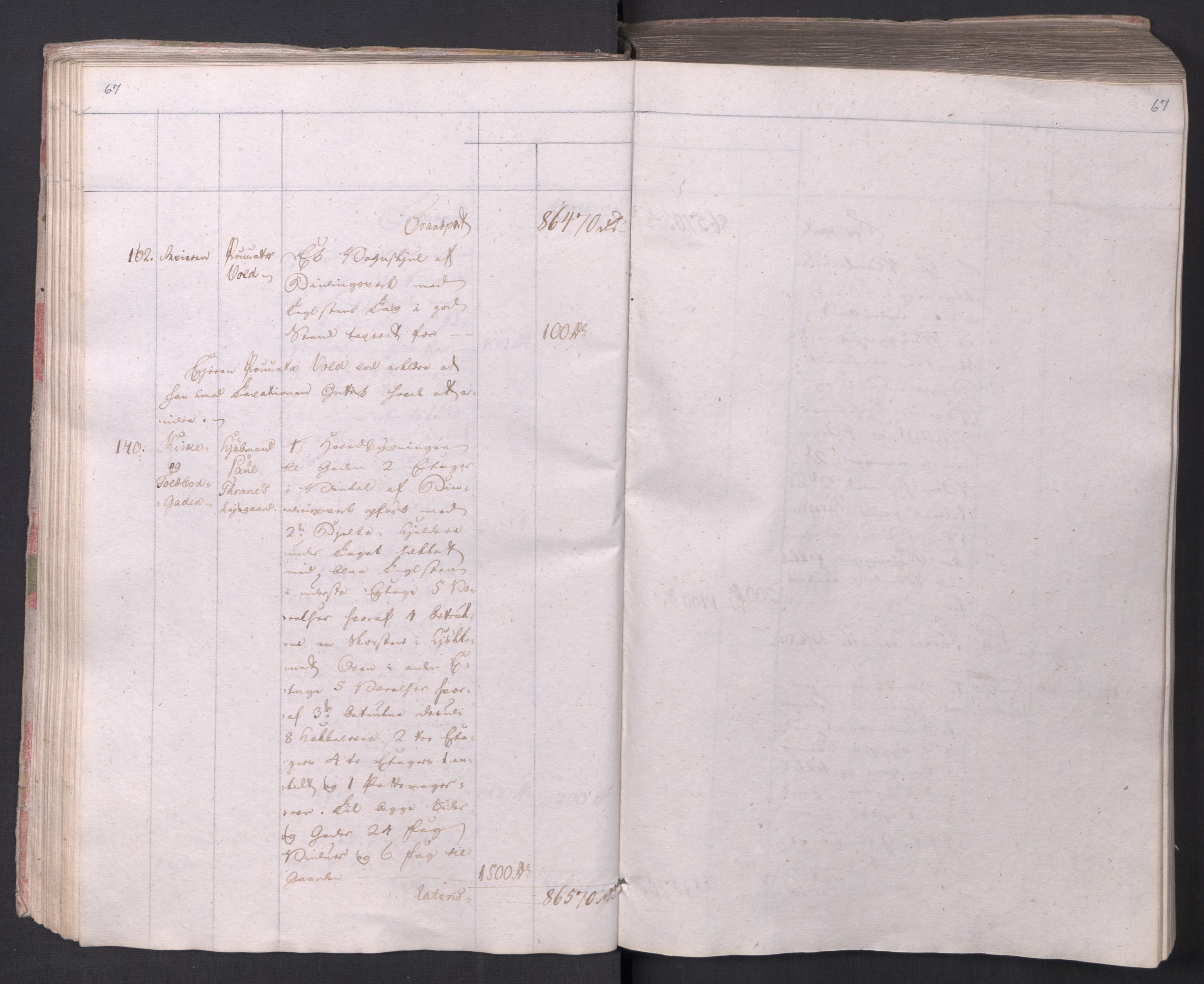 SAO, Kristiania stiftamt, I/Ia/L0015: Branntakster, 1797, s. 67