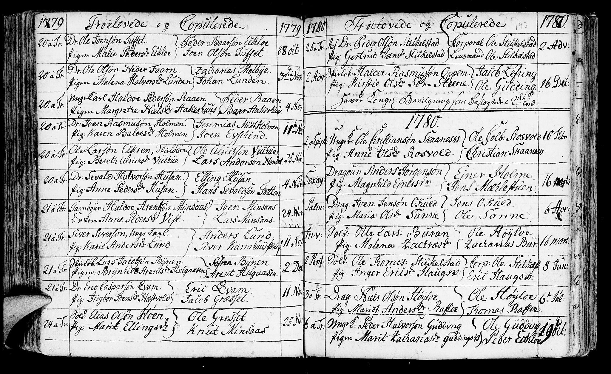 SAT, Ministerialprotokoller, klokkerbøker og fødselsregistre - Nord-Trøndelag, 723/L0231: Ministerialbok nr. 723A02, 1748-1780, s. 193
