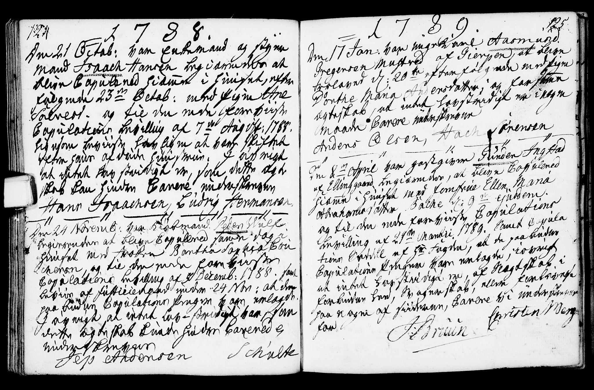 SAKO, Porsgrunn kirkebøker , F/Fa/L0003: Ministerialbok nr. 3, 1764-1814, s. 124-125