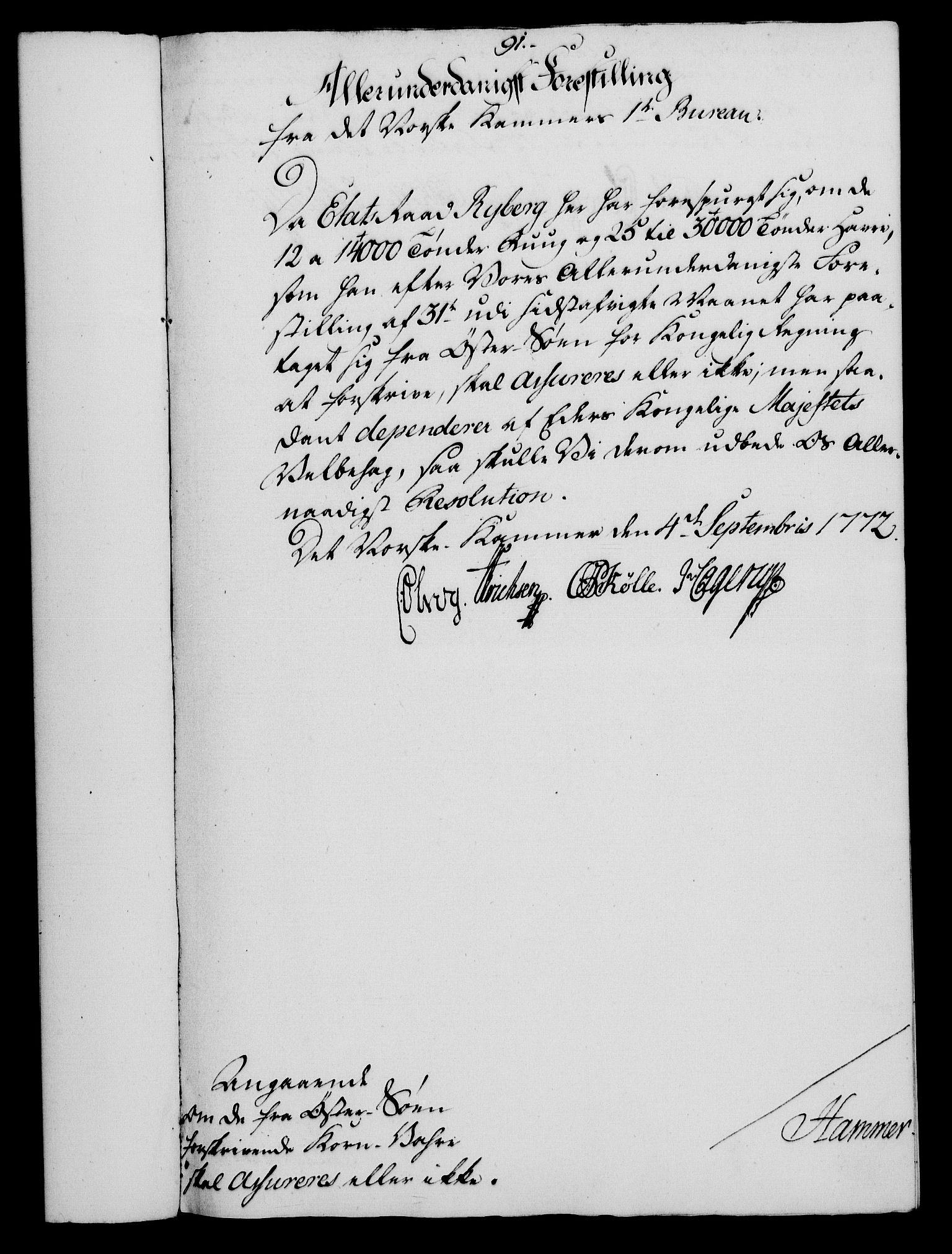 RA, Rentekammeret, Kammerkanselliet, G/Gf/Gfa/L0054: Norsk relasjons- og resolusjonsprotokoll (merket RK 52.54), 1771-1772, s. 574