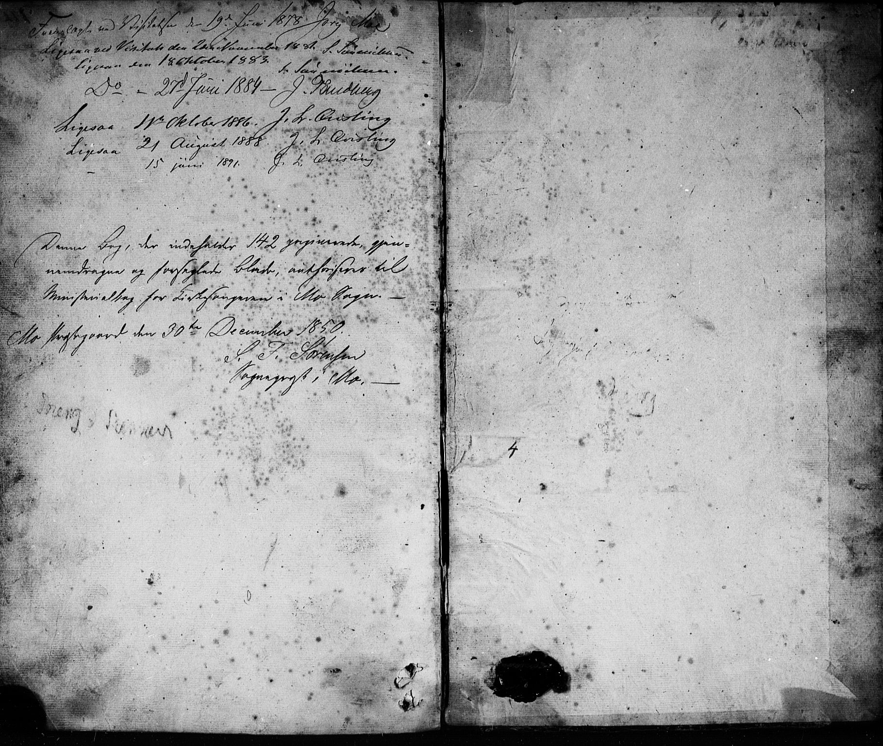 SAKO, Mo kirkebøker, G/Ga/L0001: Klokkerbok nr. I 1, 1851-1891
