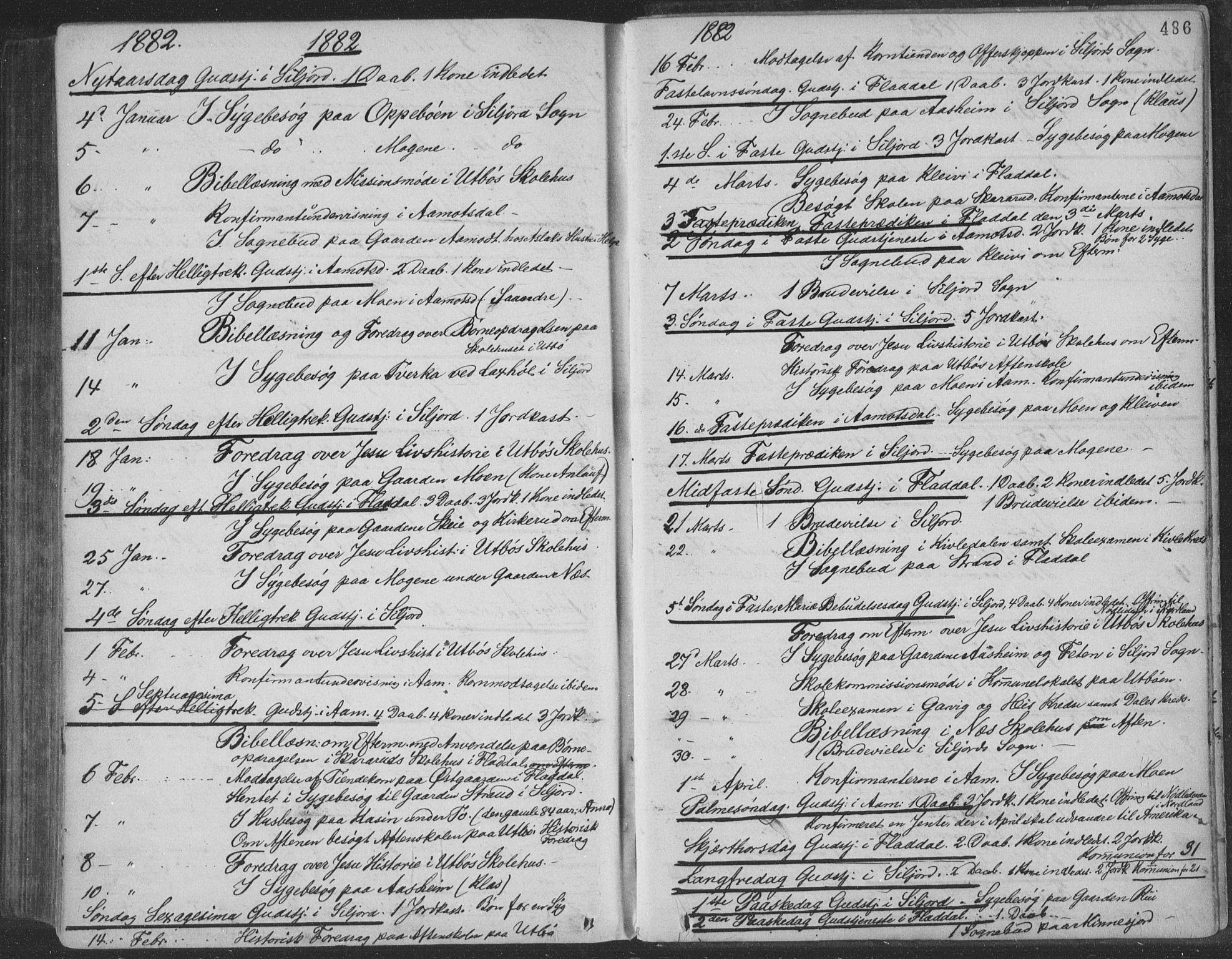 SAKO, Seljord kirkebøker, F/Fa/L0014: Ministerialbok nr. I 14, 1877-1886, s. 486
