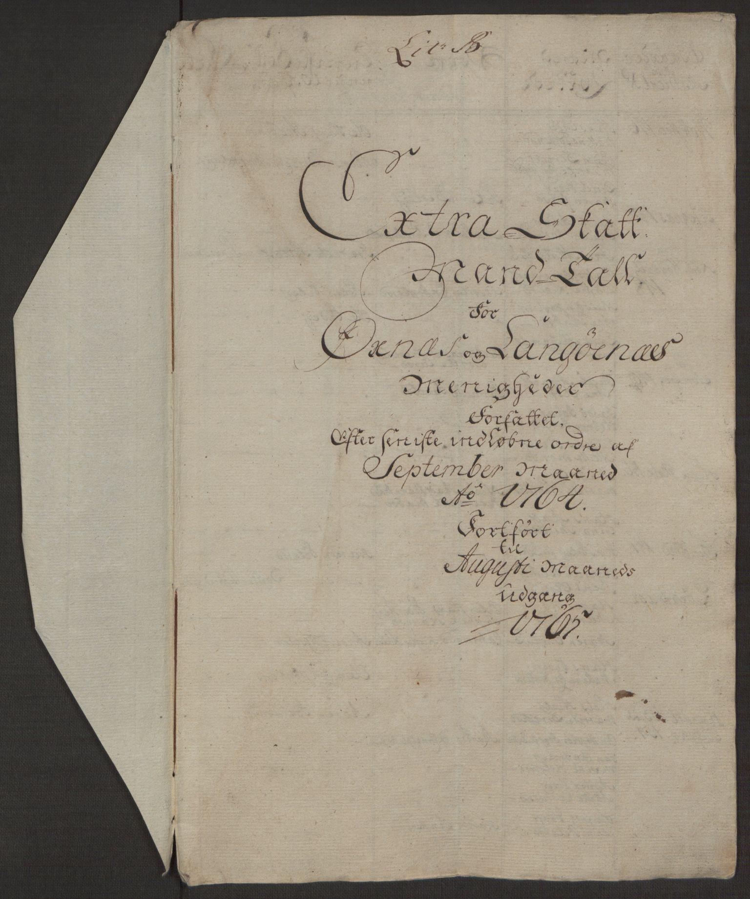 RA, Rentekammeret inntil 1814, Realistisk ordnet avdeling, Ol/L0022a: [Gg 10]: Ekstraskatten, 23.09.1762. Nordlands amt, 1763-1769, s. 86