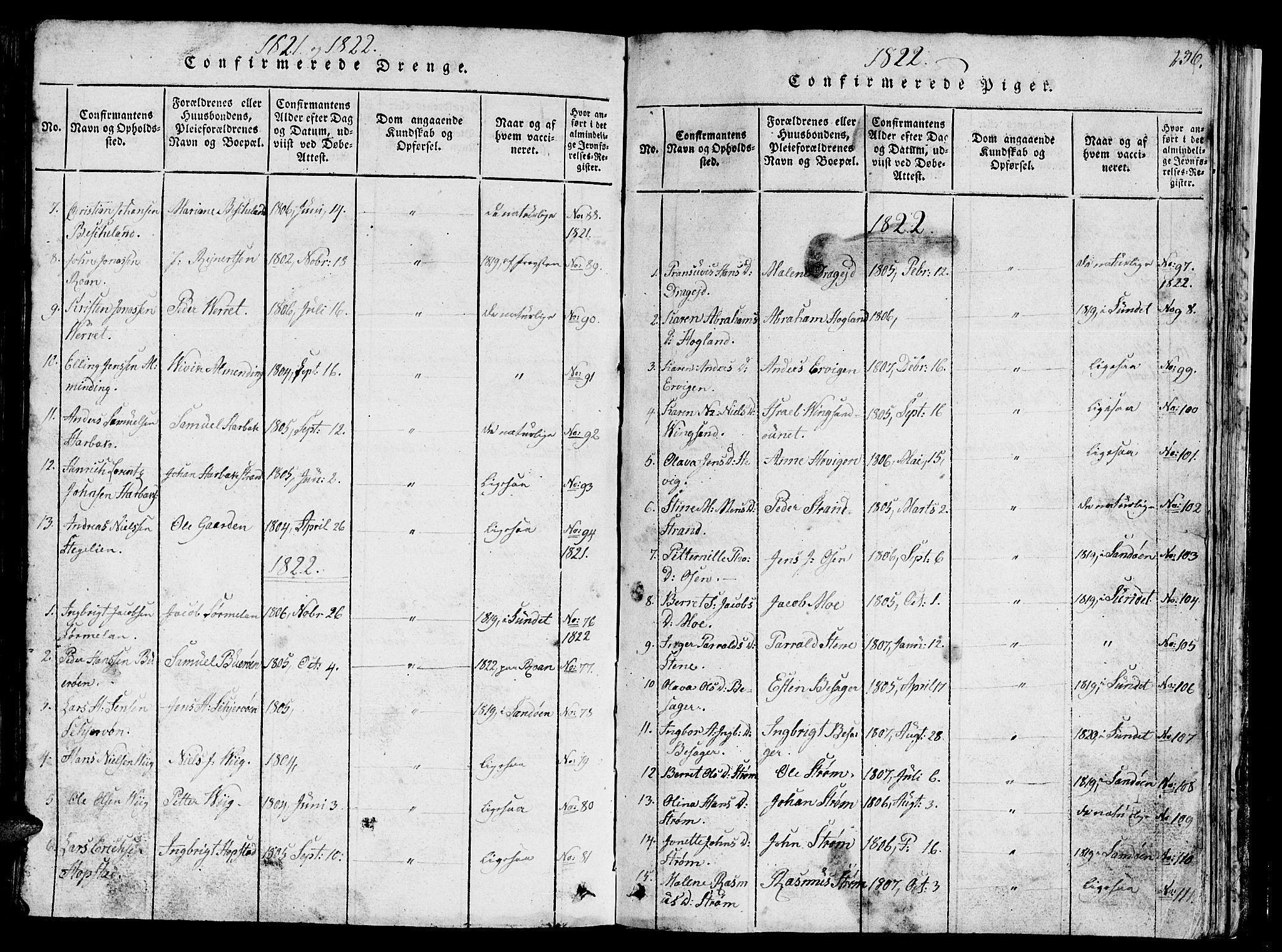 SAT, Ministerialprotokoller, klokkerbøker og fødselsregistre - Sør-Trøndelag, 657/L0714: Klokkerbok nr. 657C01, 1818-1868, s. 236