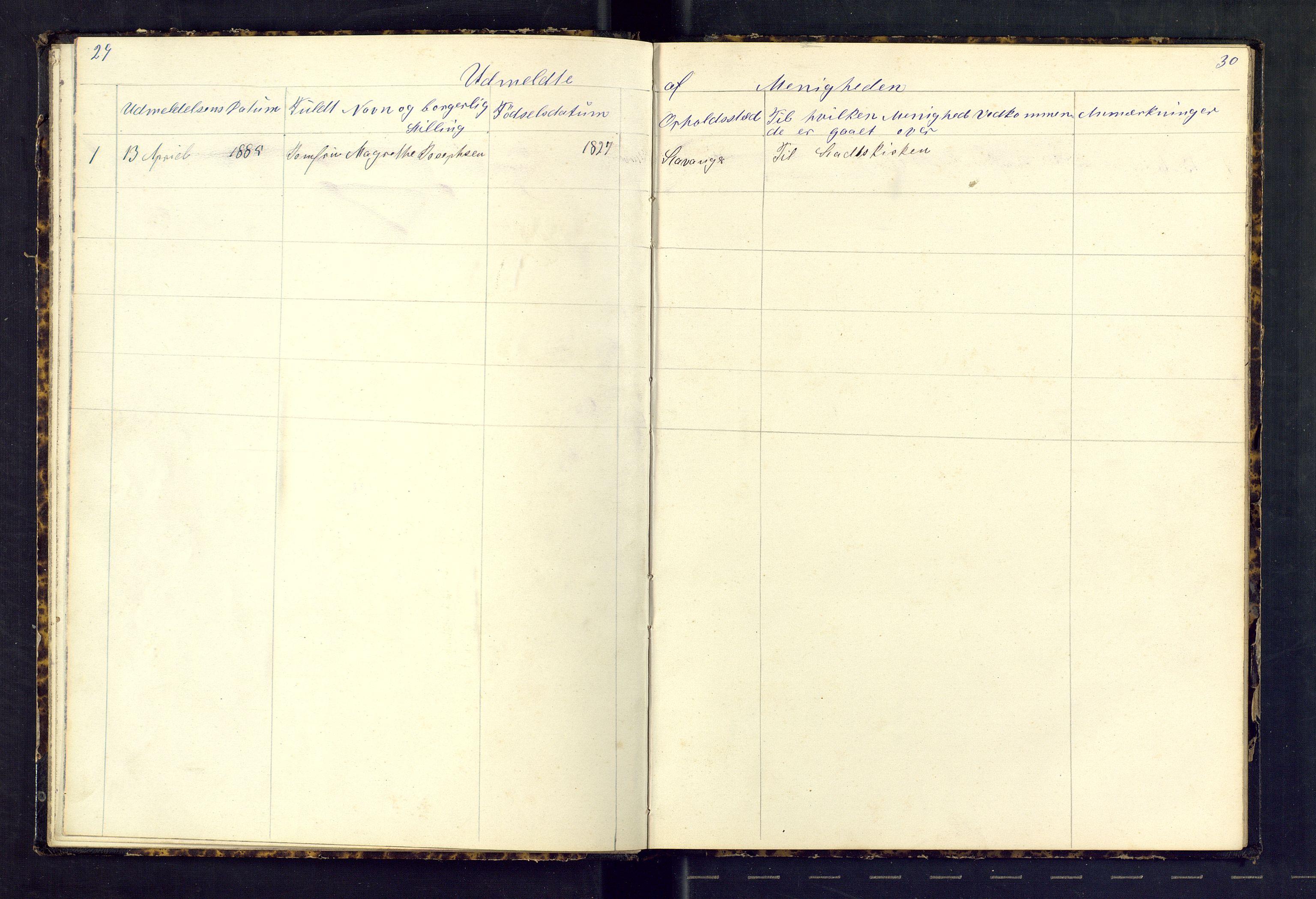 SAST, Den evangeliske lutherske frimenighet (SAS), Dissenterprotokoll nr. 1, 1881-1912, s. 29-30