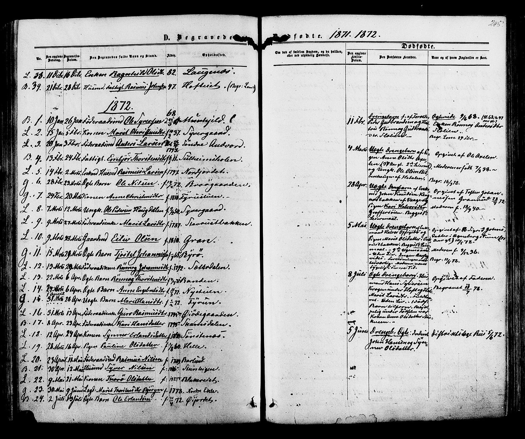 SAH, Lom prestekontor, K/L0007: Ministerialbok nr. 7, 1863-1884, s. 248