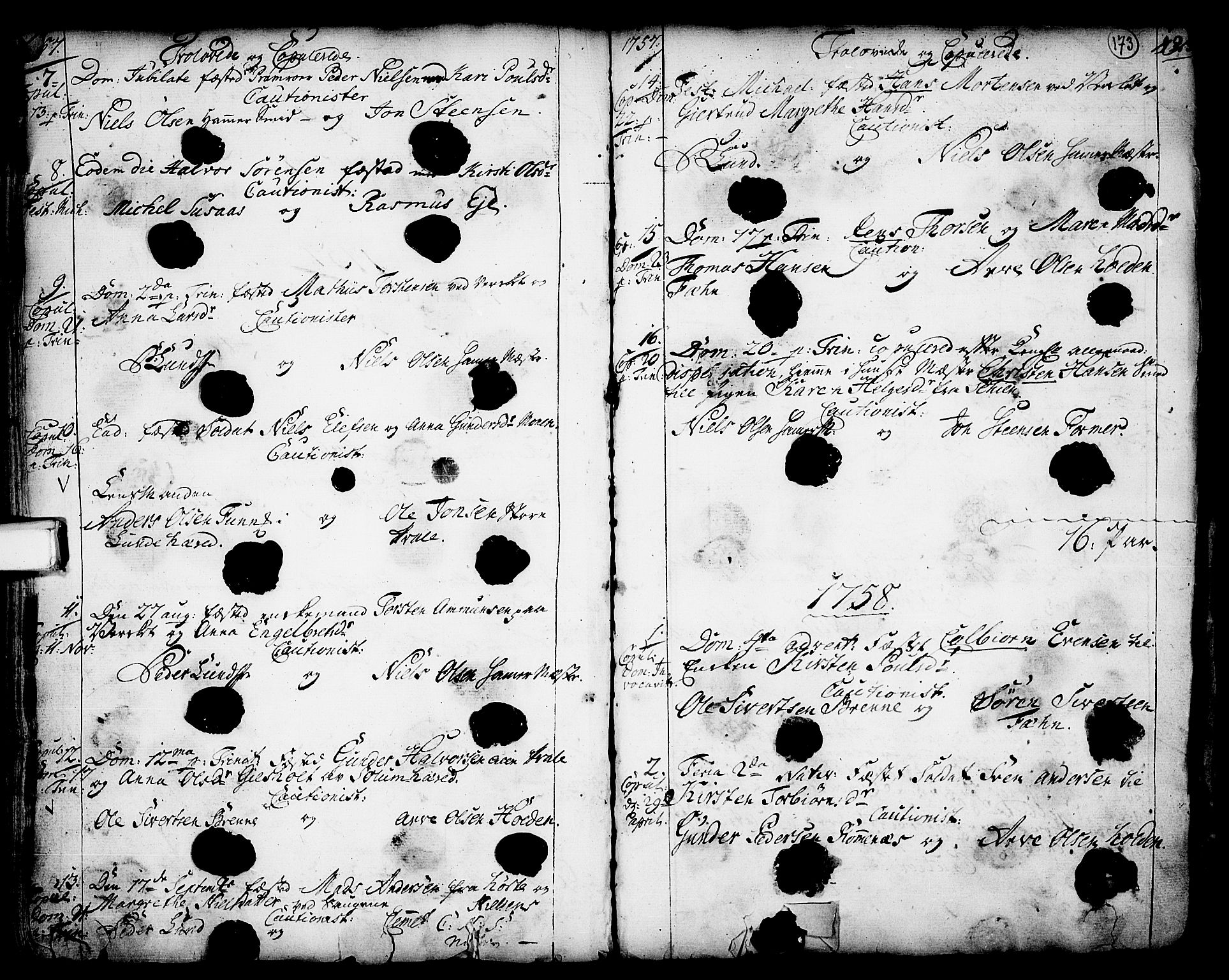 SAKO, Holla kirkebøker, F/Fa/L0001: Ministerialbok nr. 1, 1717-1779, s. 173