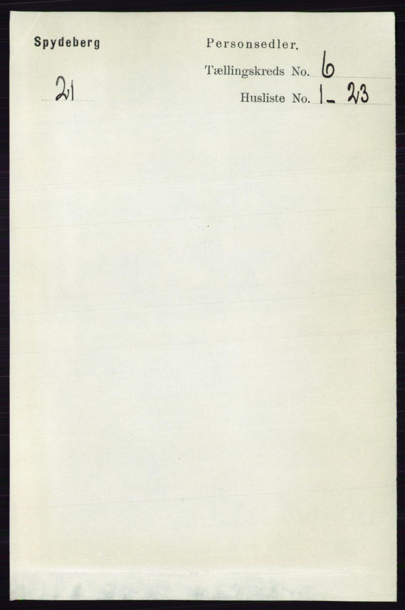 RA, Folketelling 1891 for 0123 Spydeberg herred, 1891, s. 2836