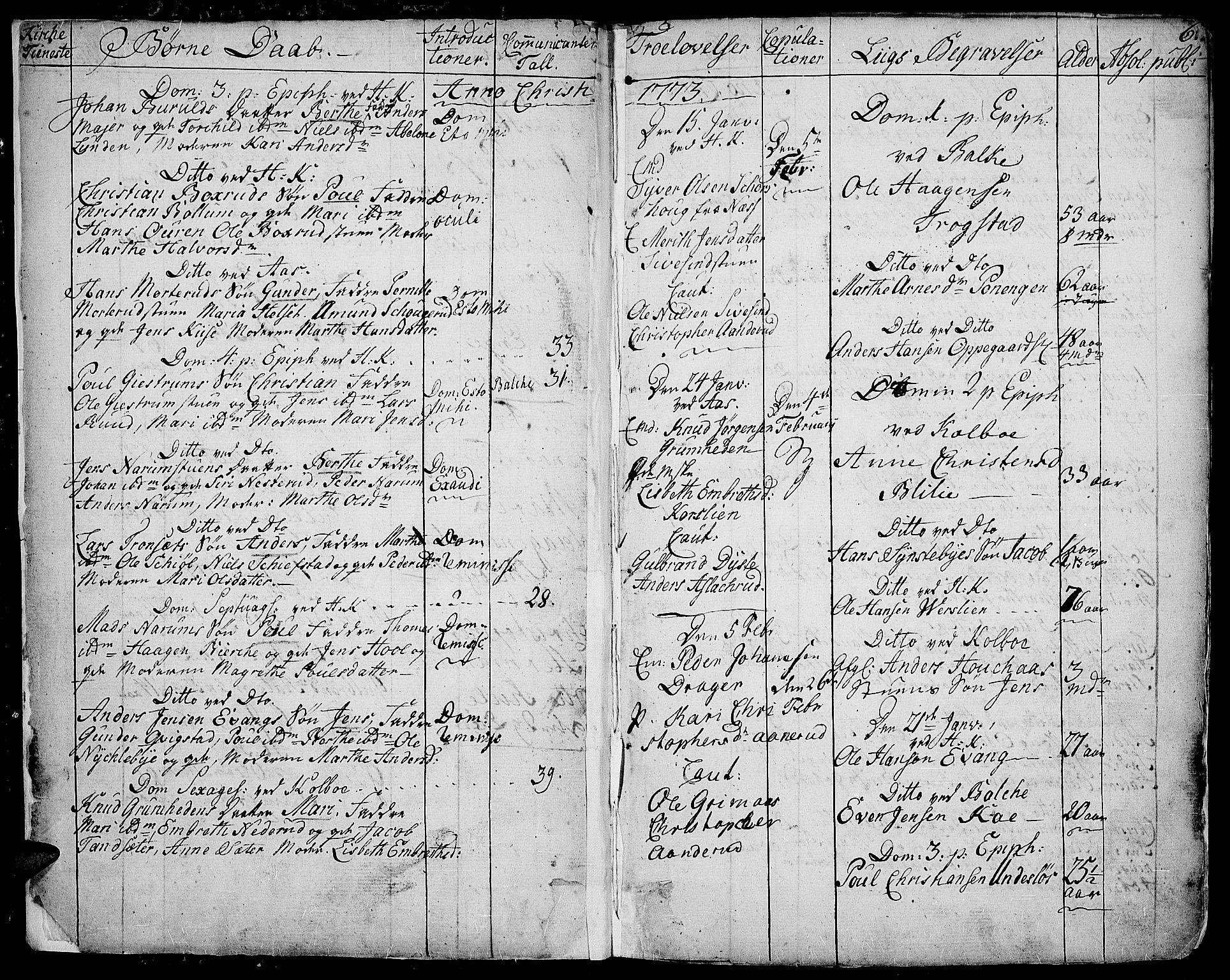 SAH, Toten prestekontor, Ministerialbok nr. 6, 1773-1793, s. 6