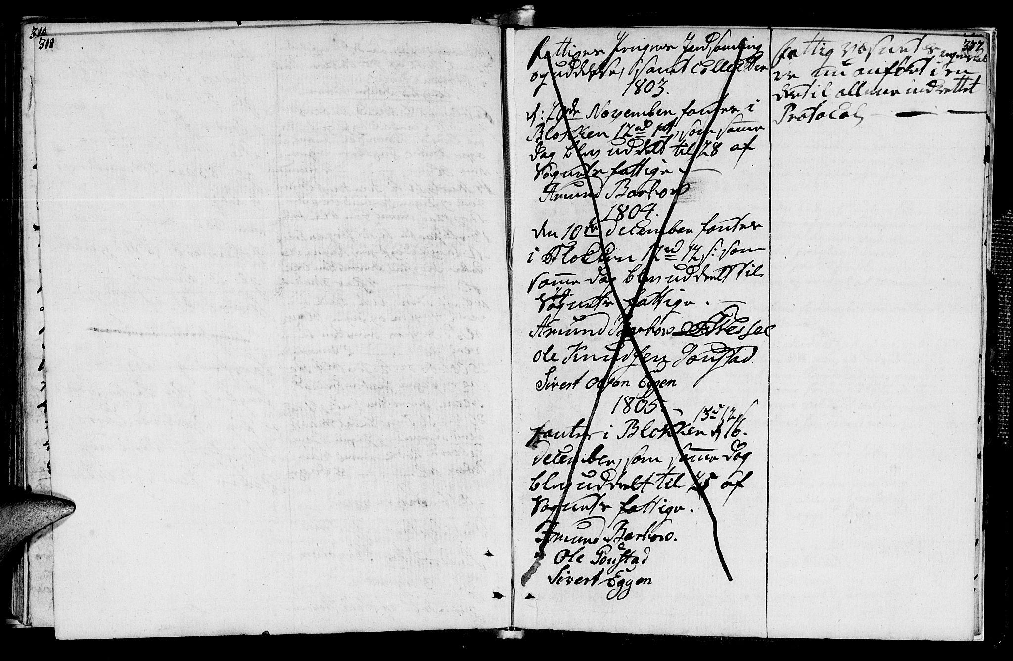 SAT, Ministerialprotokoller, klokkerbøker og fødselsregistre - Sør-Trøndelag, 612/L0371: Ministerialbok nr. 612A05, 1803-1816, s. 312-337