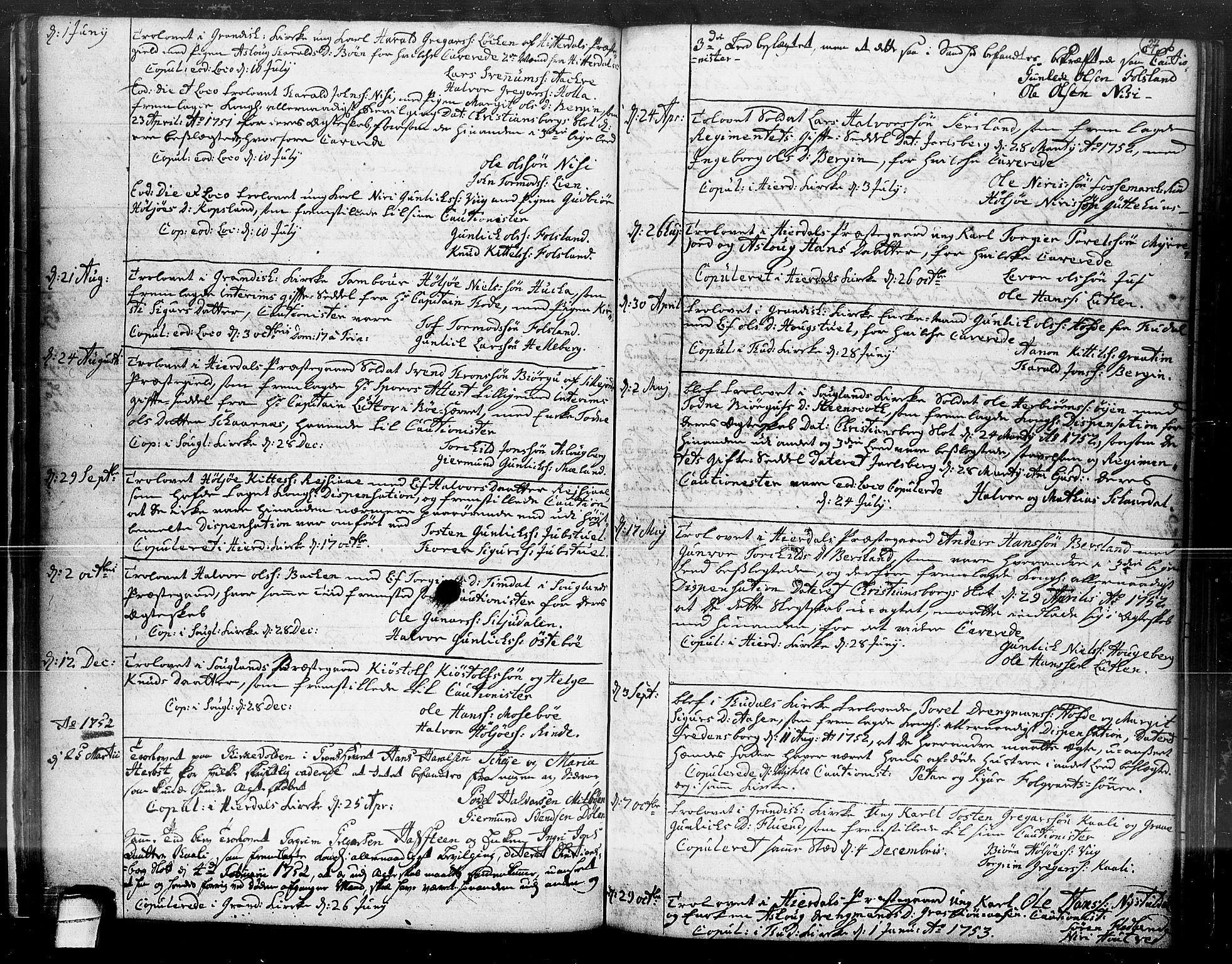 SAKO, Hjartdal kirkebøker, F/Fa/L0004: Ministerialbok nr. I 4, 1727-1795, s. 27