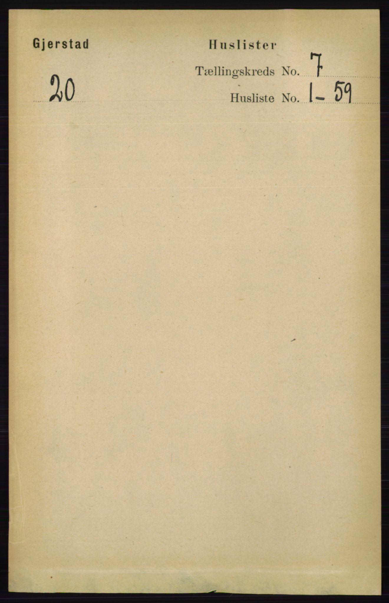 RA, Folketelling 1891 for 0911 Gjerstad herred, 1891, s. 2665