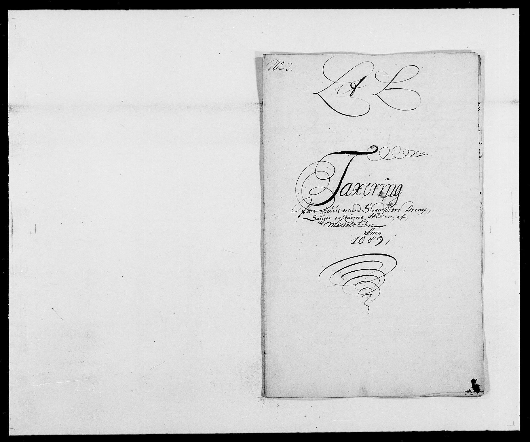 RA, Rentekammeret inntil 1814, Reviderte regnskaper, Fogderegnskap, R42/L2543: Mandal fogderi, 1688-1691, s. 162