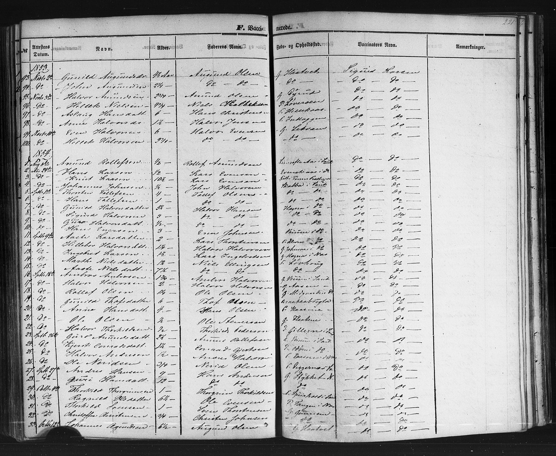 SAKO, Sauherad kirkebøker, F/Fb/L0001: Ministerialbok nr. II 1, 1851-1877, s. 221