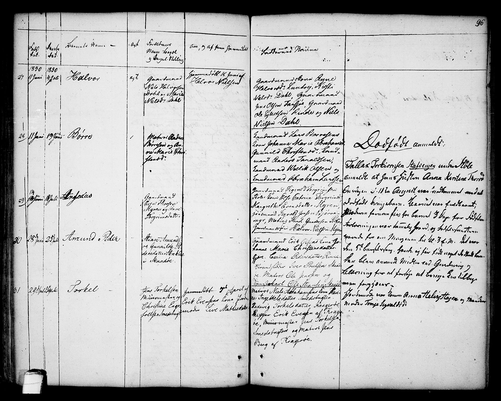SAKO, Kragerø kirkebøker, F/Fa/L0002: Ministerialbok nr. 2, 1767-1802, s. 96