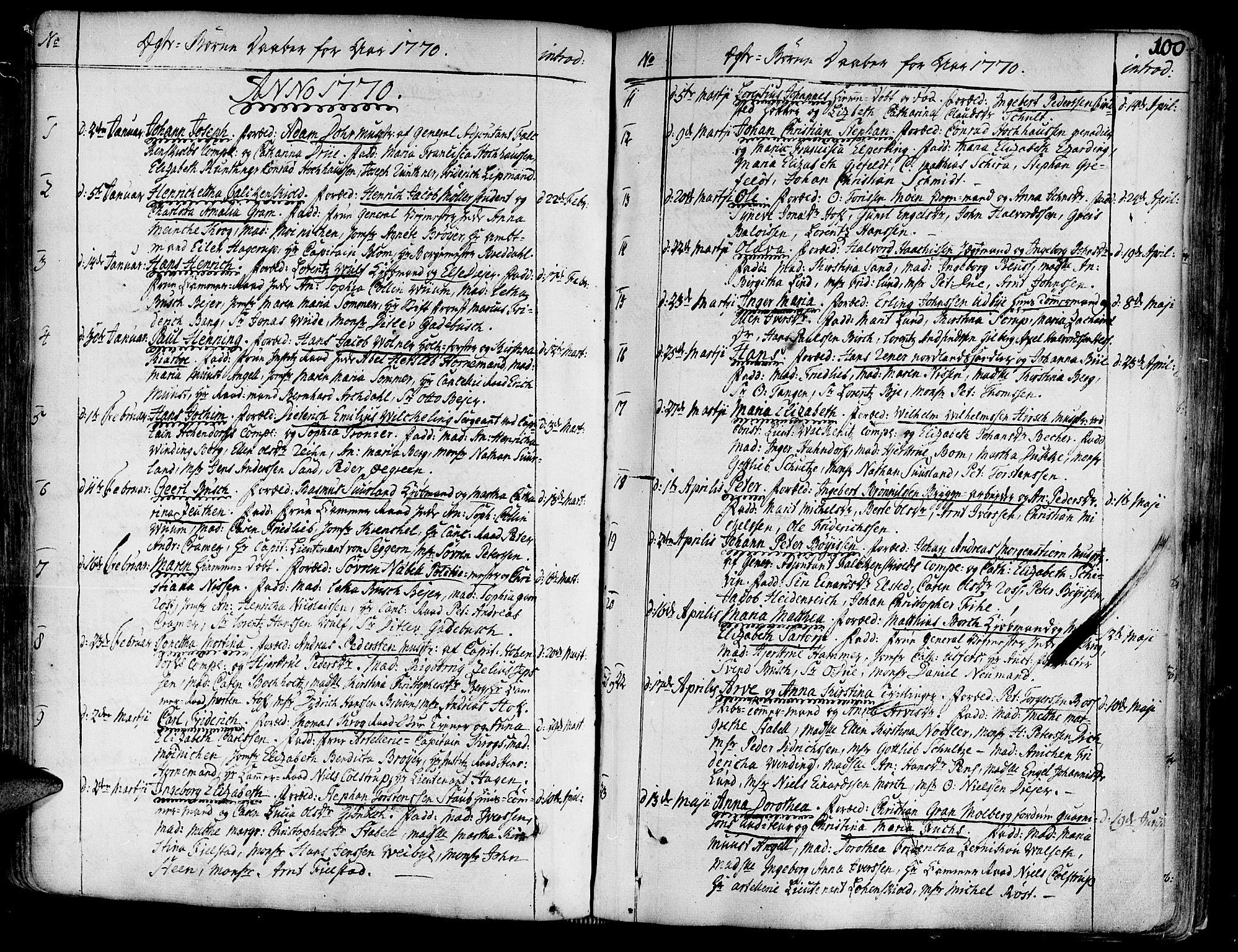 SAT, Ministerialprotokoller, klokkerbøker og fødselsregistre - Sør-Trøndelag, 602/L0103: Ministerialbok nr. 602A01, 1732-1774, s. 100