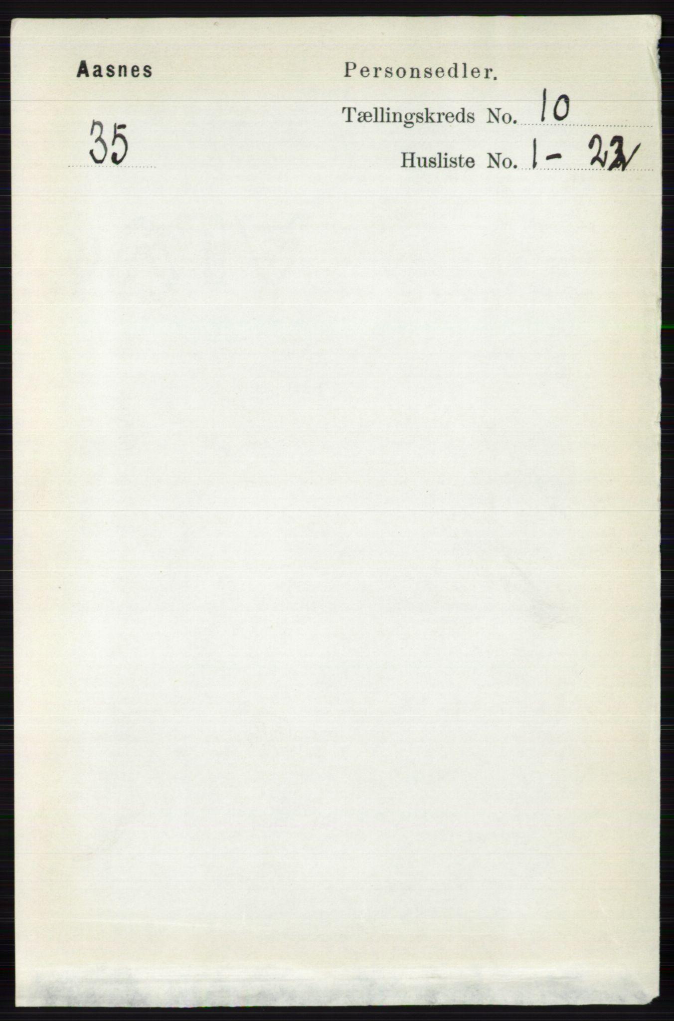 RA, Folketelling 1891 for 0425 Åsnes herred, 1891, s. 5029