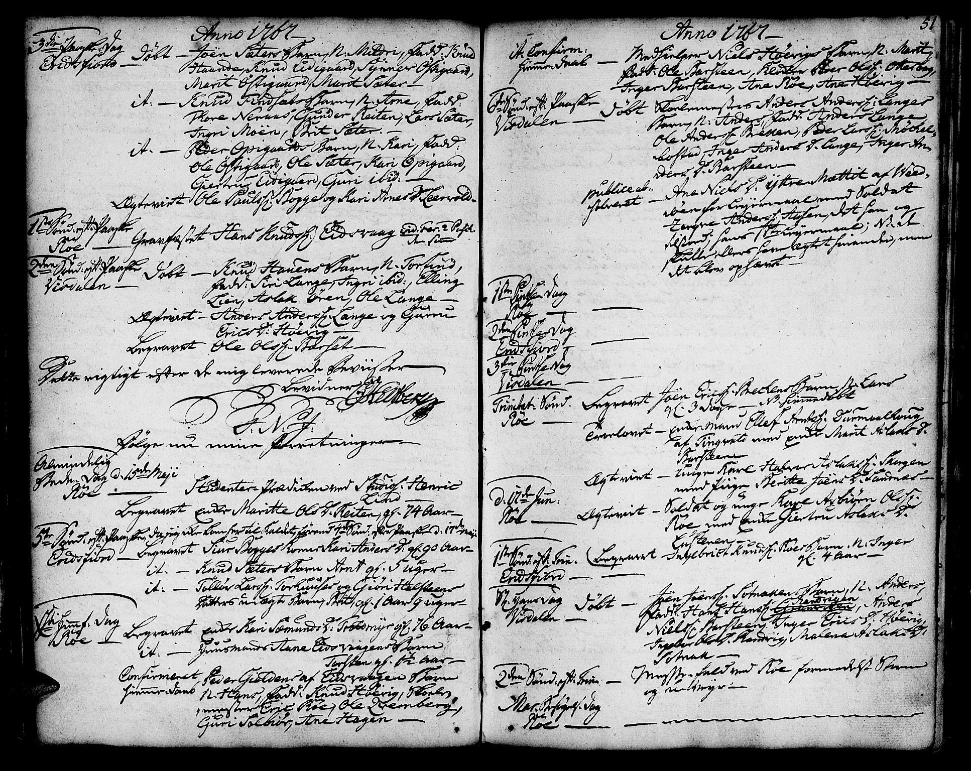 SAT, Ministerialprotokoller, klokkerbøker og fødselsregistre - Møre og Romsdal, 551/L0621: Ministerialbok nr. 551A01, 1757-1803, s. 51
