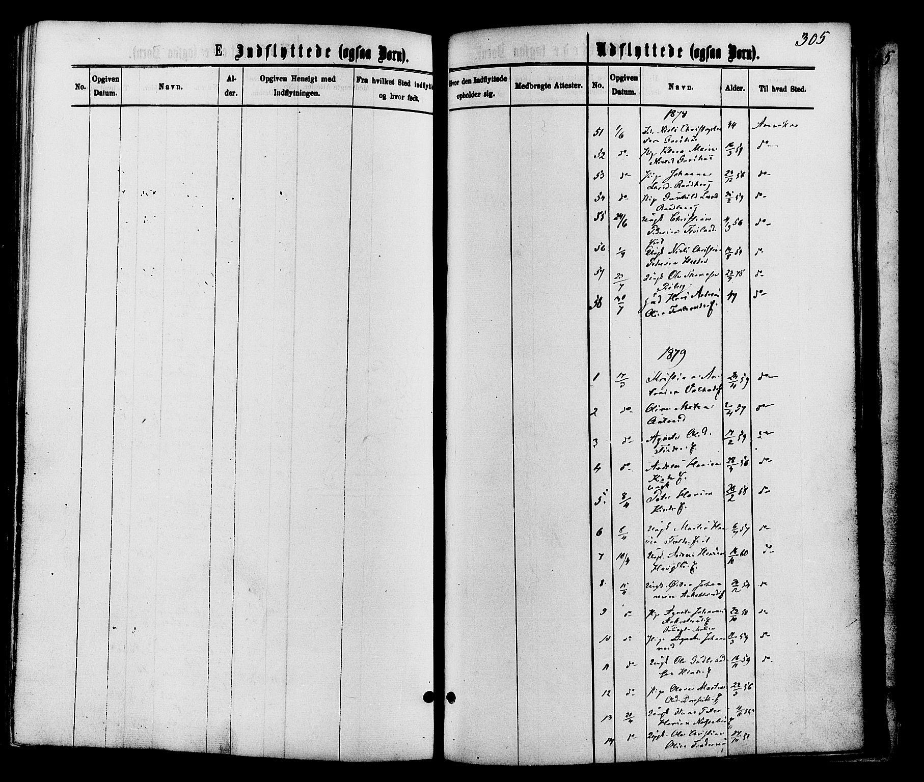 SAH, Nordre Land prestekontor, Ministerialbok nr. 2, 1872-1881, s. 305