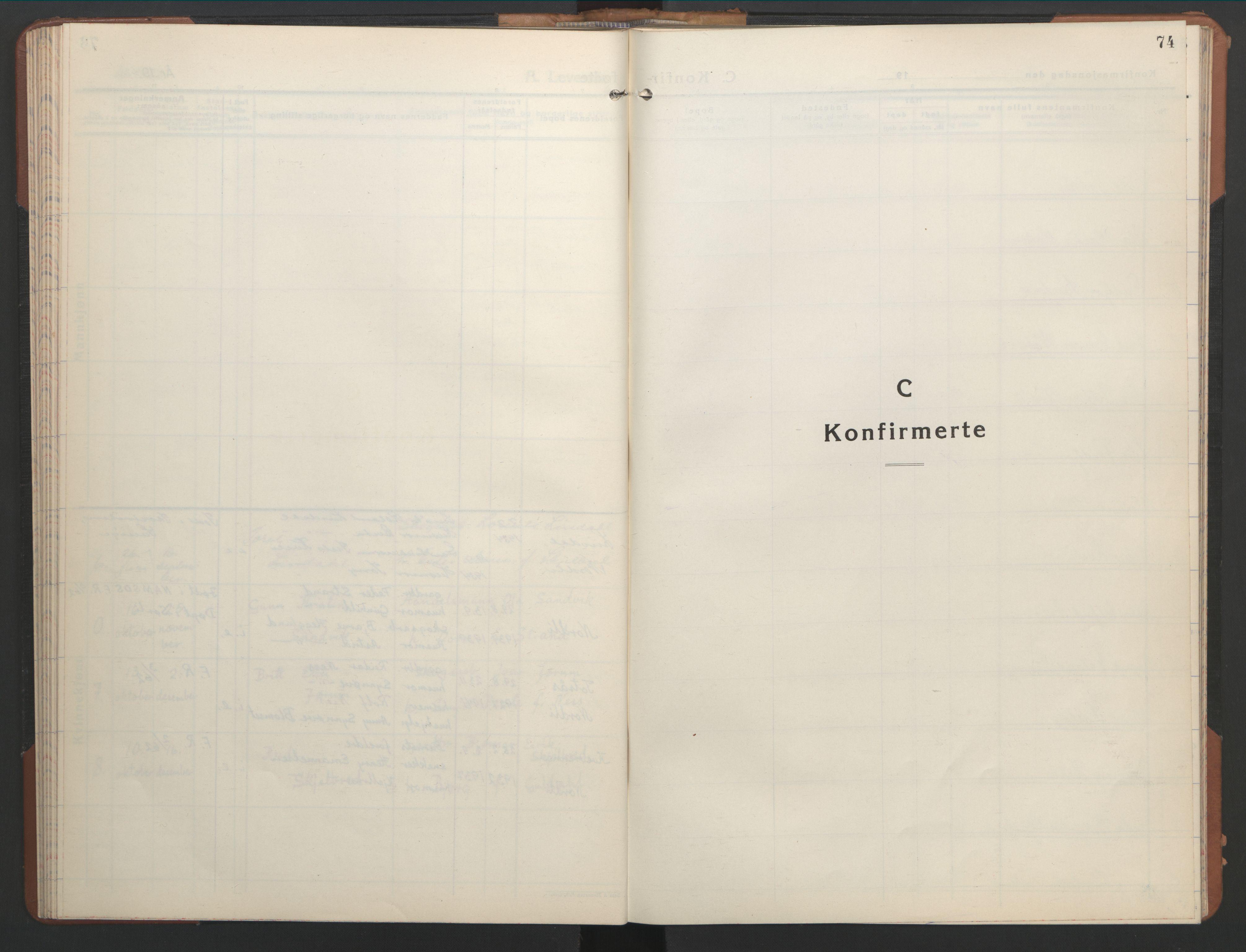 SAT, Ministerialprotokoller, klokkerbøker og fødselsregistre - Nord-Trøndelag, 755/L0500: Klokkerbok nr. 755C01, 1920-1962, s. 74