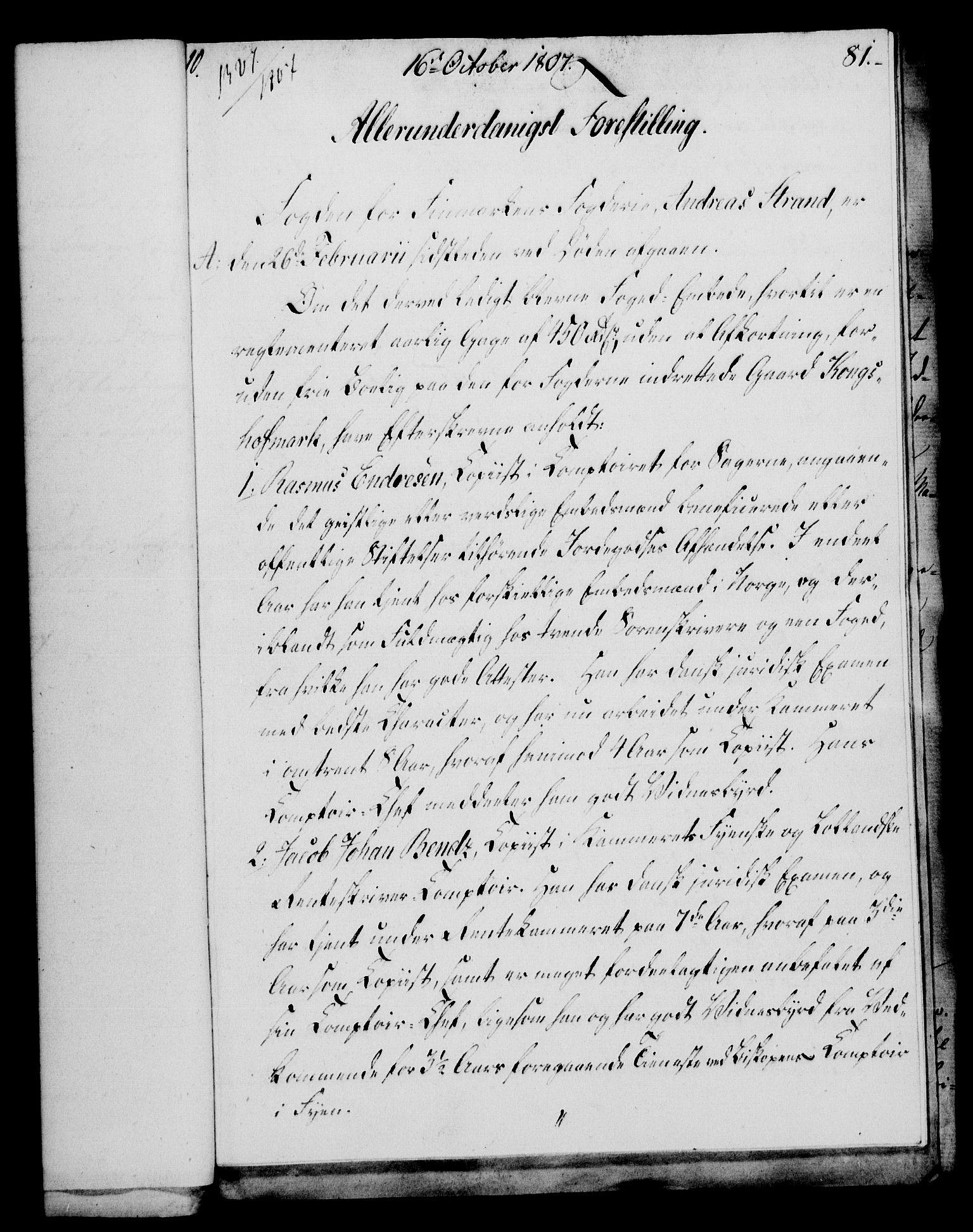 RA, Rentekammeret, Kammerkanselliet, G/Gf/Gfa/L0089: Norsk relasjons- og resolusjonsprotokoll (merket RK 52.89), 1807, s. 518