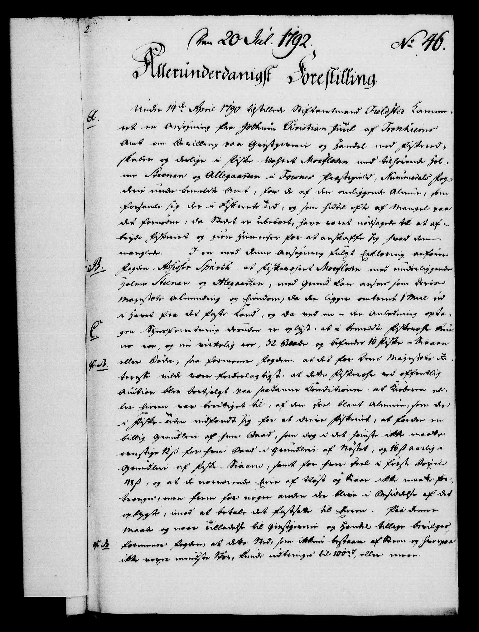 RA, Rentekammeret, Kammerkanselliet, G/Gf/Gfa/L0074: Norsk relasjons- og resolusjonsprotokoll (merket RK 52.74), 1792, s. 281