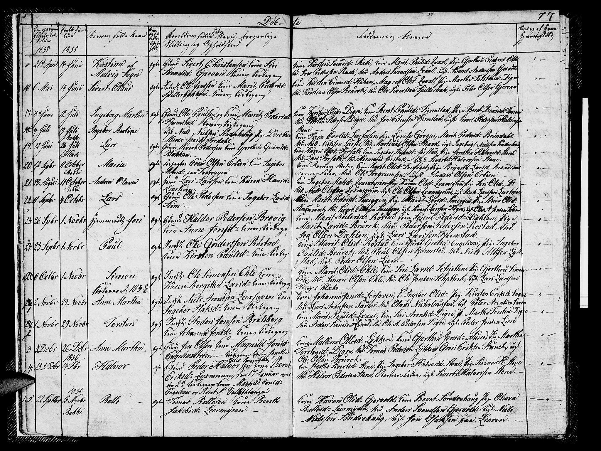 SAT, Ministerialprotokoller, klokkerbøker og fødselsregistre - Sør-Trøndelag, 608/L0338: Klokkerbok nr. 608C04, 1831-1843, s. 7