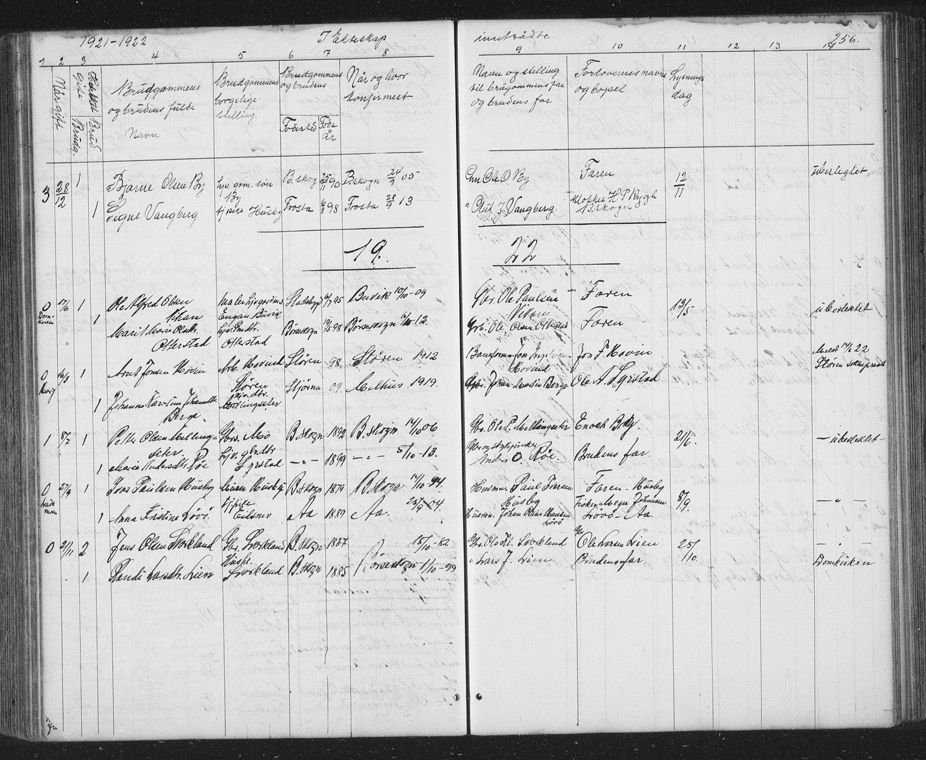 SAT, Ministerialprotokoller, klokkerbøker og fødselsregistre - Sør-Trøndelag, 667/L0798: Klokkerbok nr. 667C03, 1867-1929, s. 256