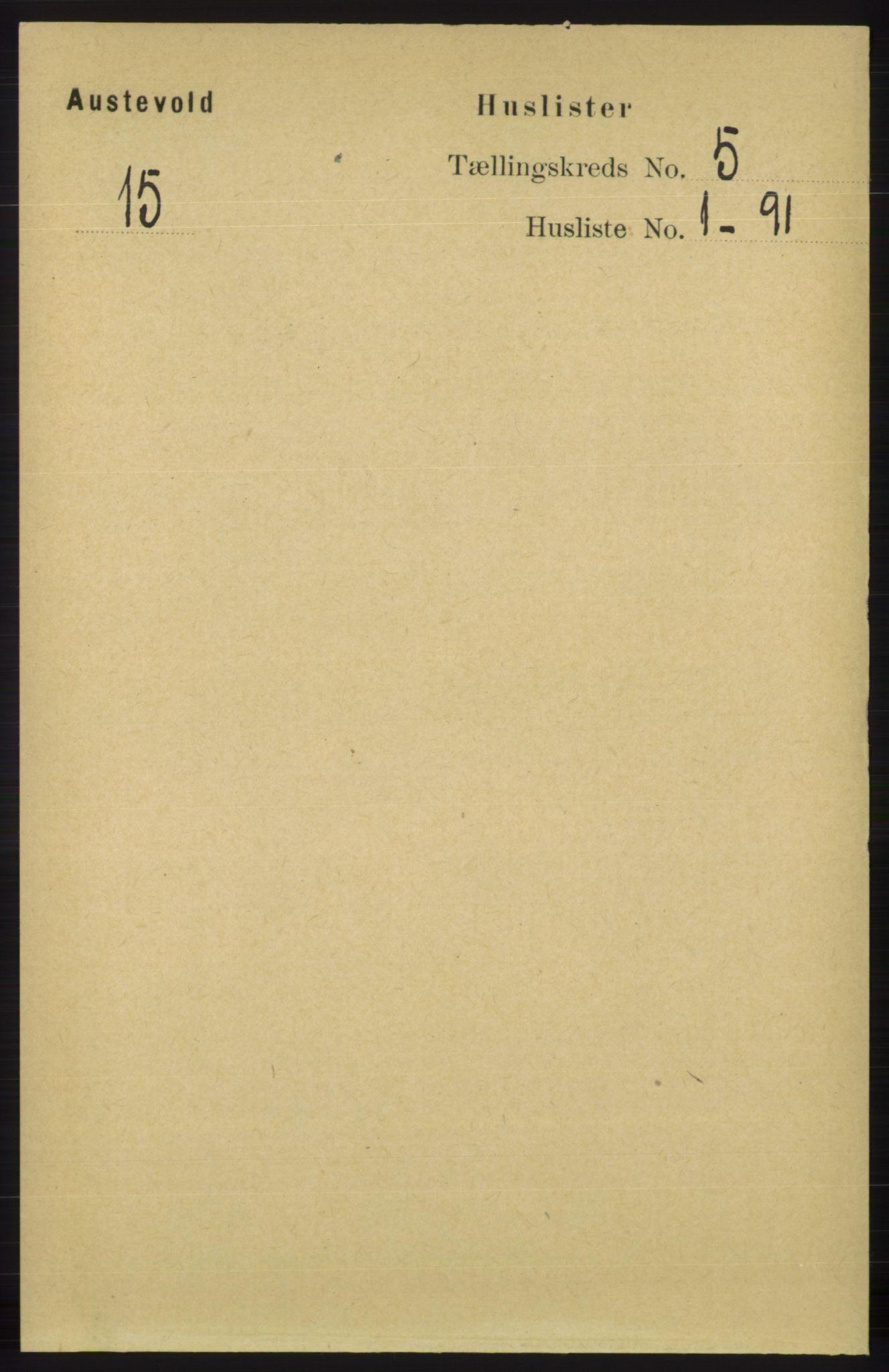 RA, Folketelling 1891 for 1244 Austevoll herred, 1891, s. 1910