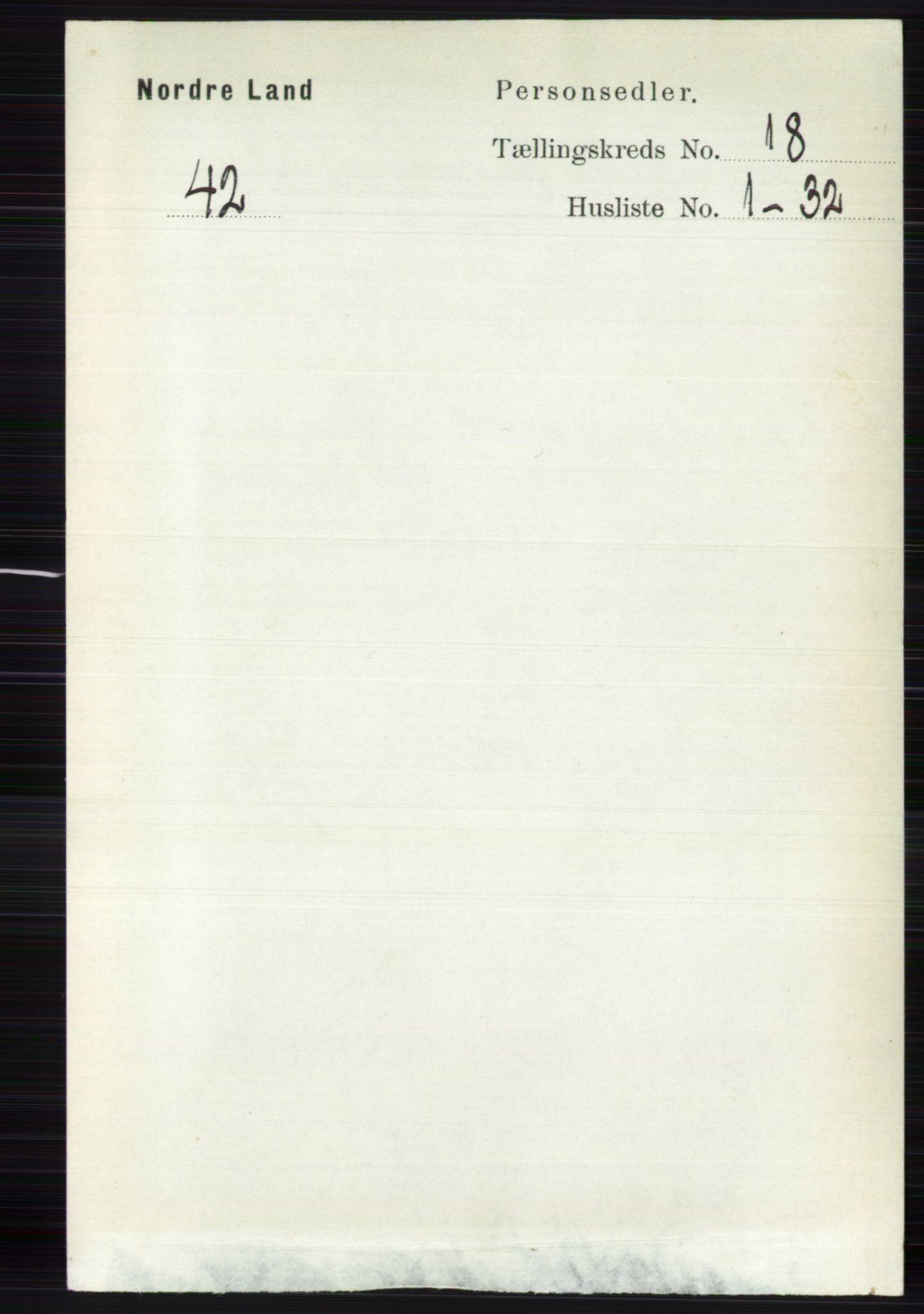 RA, Folketelling 1891 for 0538 Nordre Land herred, 1891, s. 4387