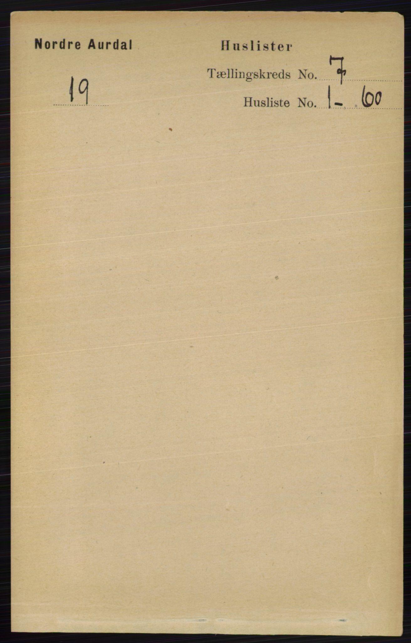 RA, Folketelling 1891 for 0542 Nord-Aurdal herred, 1891, s. 2320