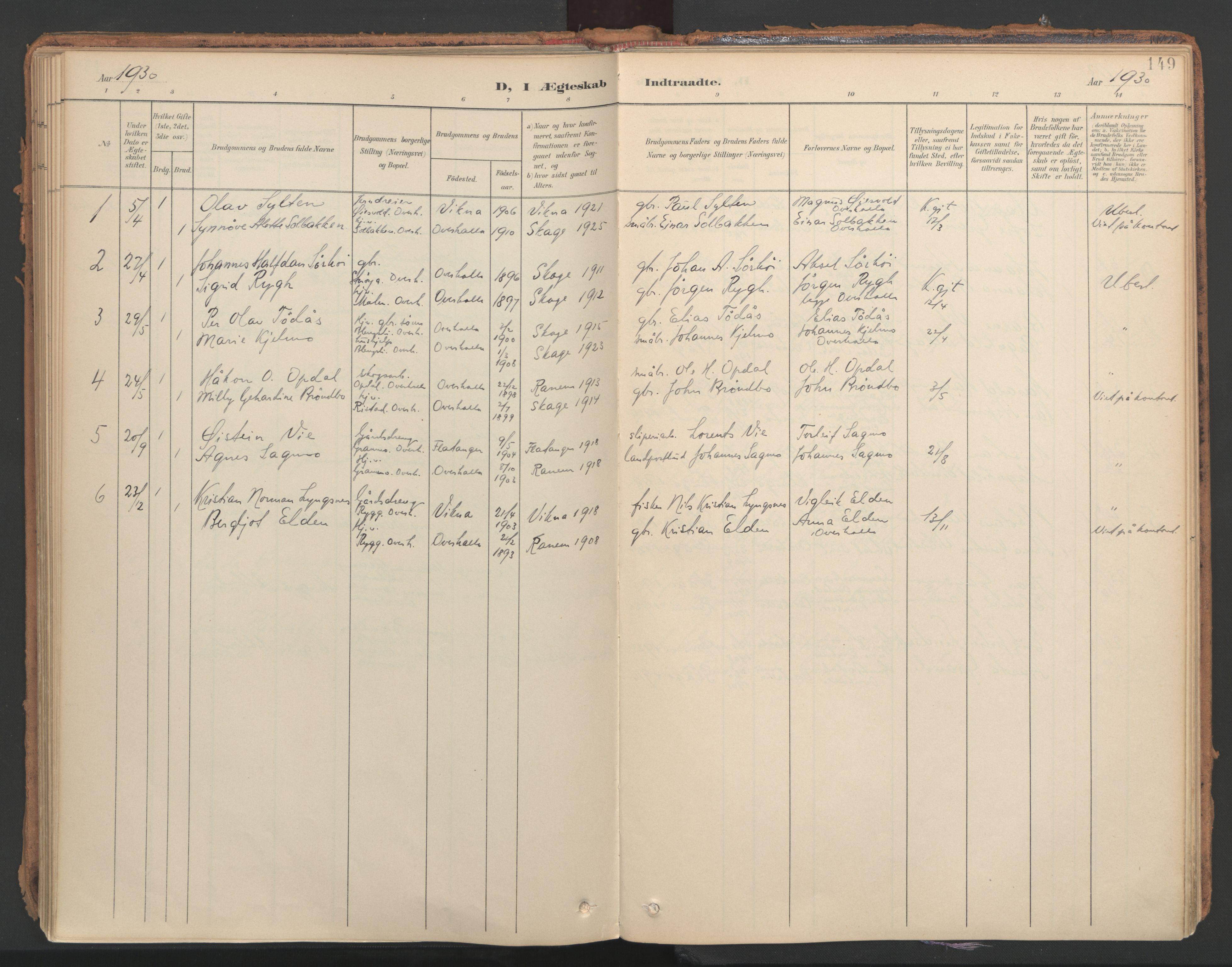 SAT, Ministerialprotokoller, klokkerbøker og fødselsregistre - Nord-Trøndelag, 766/L0564: Ministerialbok nr. 767A02, 1900-1932, s. 149