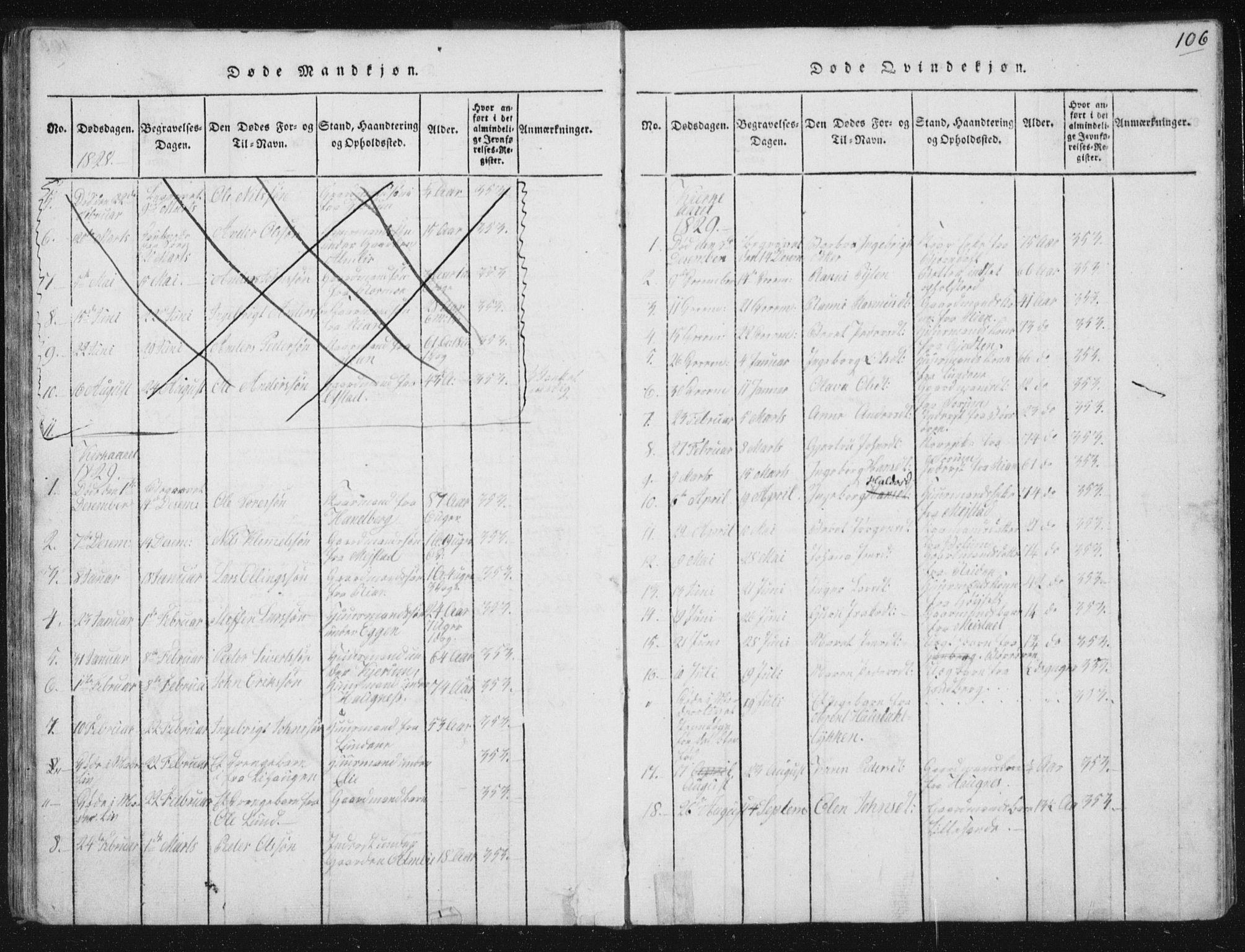 SAT, Ministerialprotokoller, klokkerbøker og fødselsregistre - Sør-Trøndelag, 665/L0770: Ministerialbok nr. 665A05, 1817-1829, s. 106