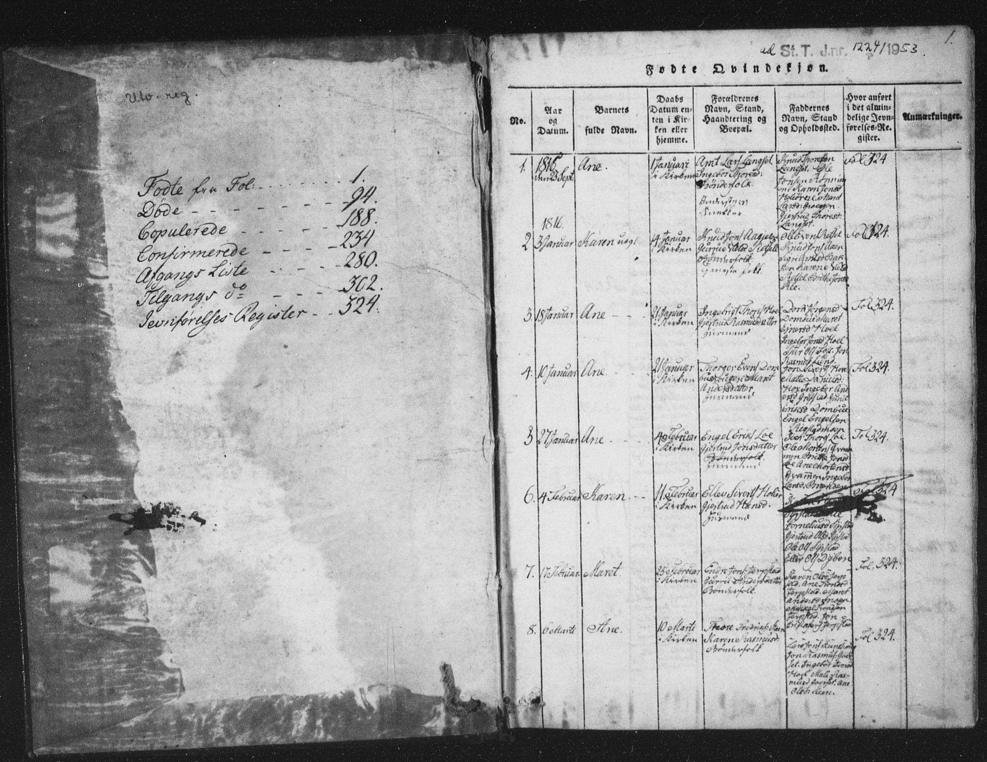 SAT, Ministerialprotokoller, klokkerbøker og fødselsregistre - Sør-Trøndelag, 672/L0862: Klokkerbok nr. 672C01, 1816-1831, s. 1