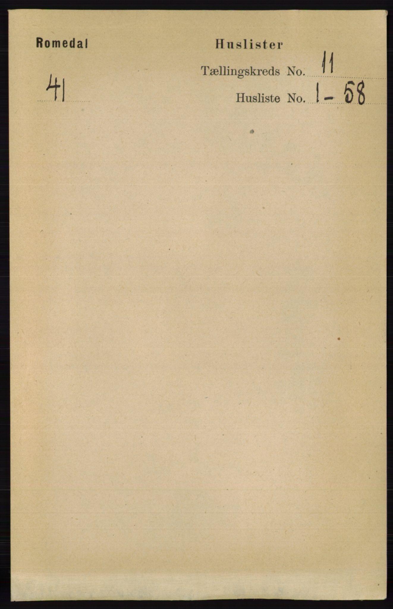 RA, Folketelling 1891 for 0416 Romedal herred, 1891, s. 5341