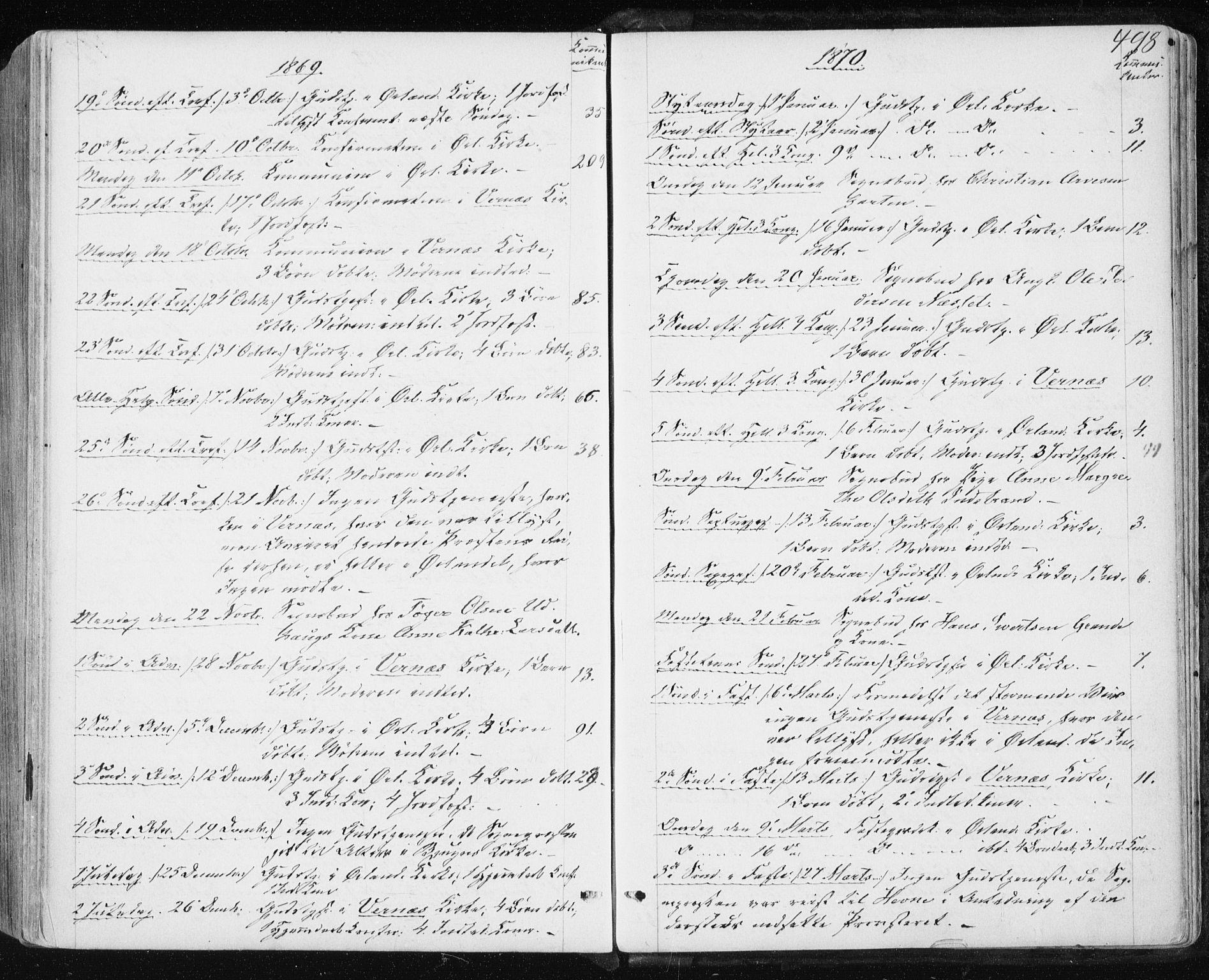 SAT, Ministerialprotokoller, klokkerbøker og fødselsregistre - Sør-Trøndelag, 659/L0737: Ministerialbok nr. 659A07, 1857-1875, s. 498