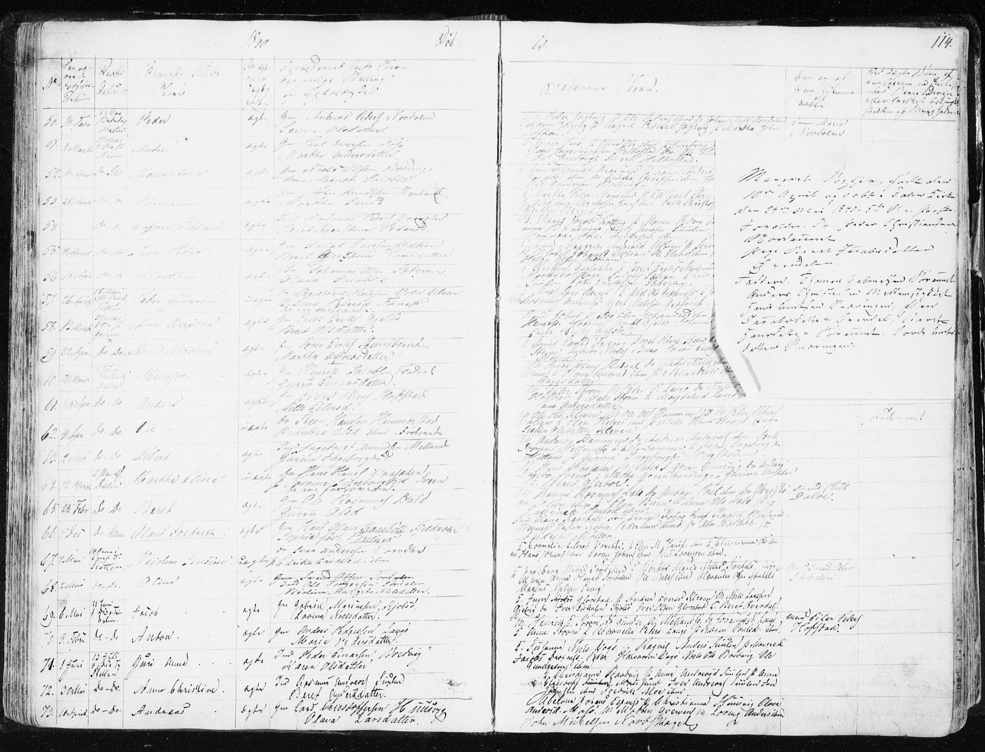 SAT, Ministerialprotokoller, klokkerbøker og fødselsregistre - Sør-Trøndelag, 634/L0528: Ministerialbok nr. 634A04, 1827-1842, s. 114