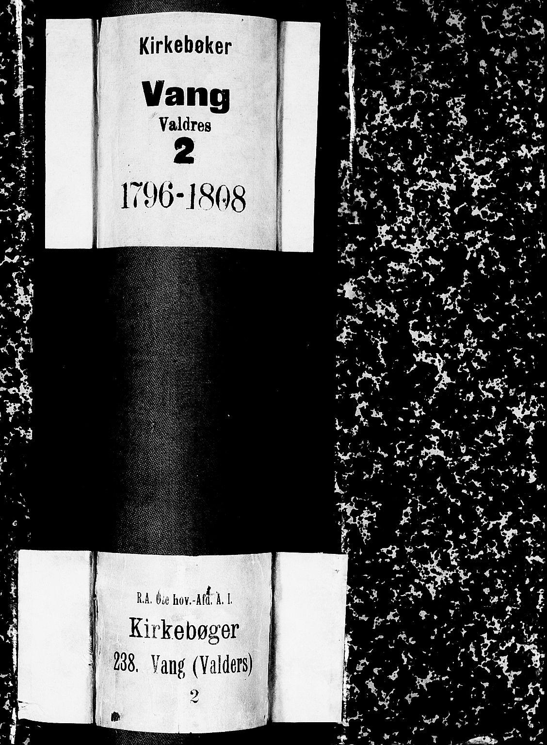 SAH, Vang prestekontor, Valdres, Ministerialbok nr. 2, 1796-1808