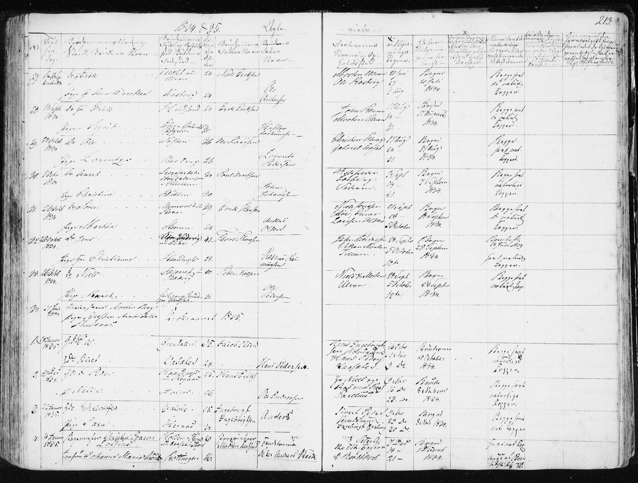 SAT, Ministerialprotokoller, klokkerbøker og fødselsregistre - Sør-Trøndelag, 634/L0528: Ministerialbok nr. 634A04, 1827-1842, s. 213